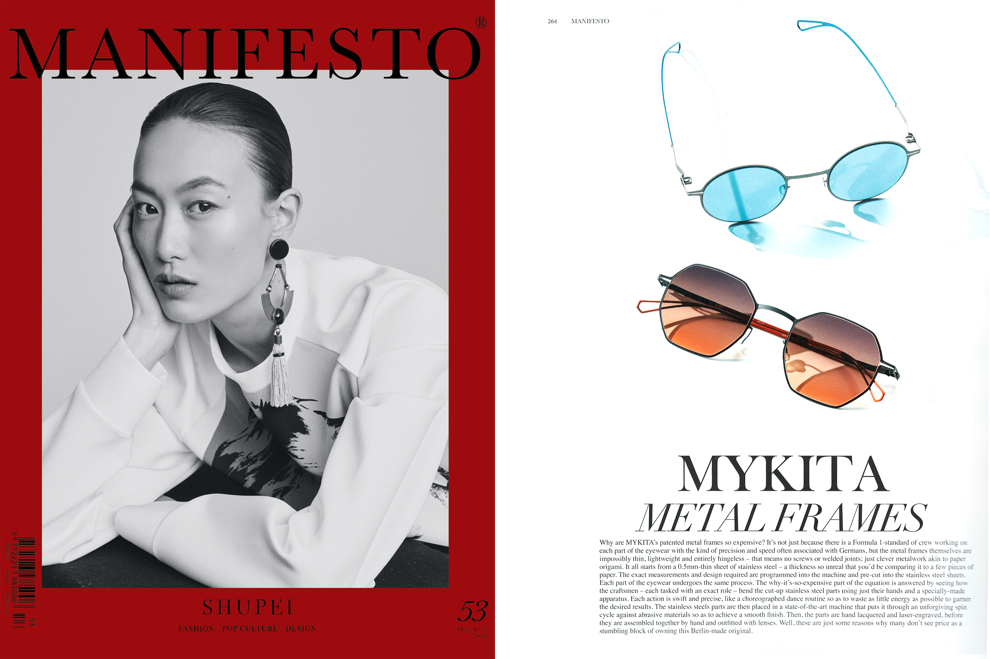 MYKITA & BERNHARD WILLHELM sunglasses BRENDA & WALSH featured in MANIFESTO Hong Kong