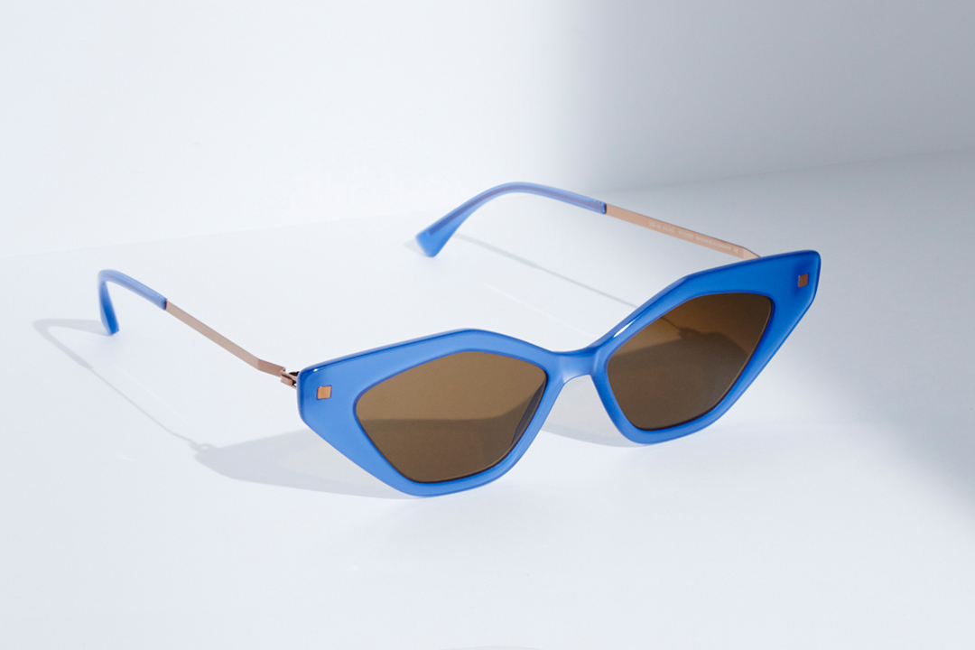 MYKITA No1 Sun Carlo Indigo Orange Dark Grey Solid MYKITA Lite Acetate Sun Gapi C88 Misty Blue Shiny Copper Brown Solid