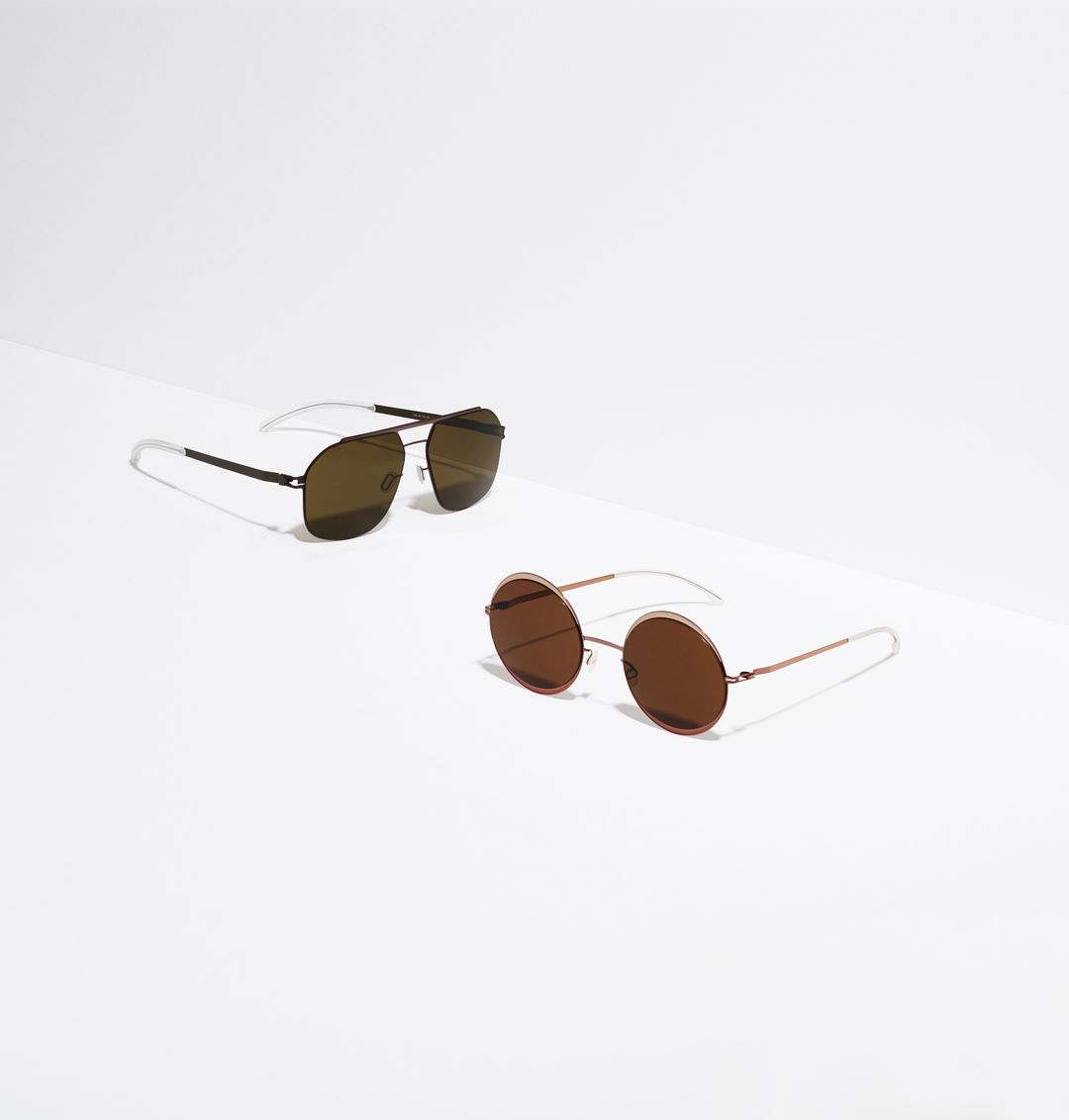 fbd684b38c MYKITA No1 Sun Selleck Mocca Camou Green Raw Brown Solid MYKITA Decades Sun  Iris Purple Bronze