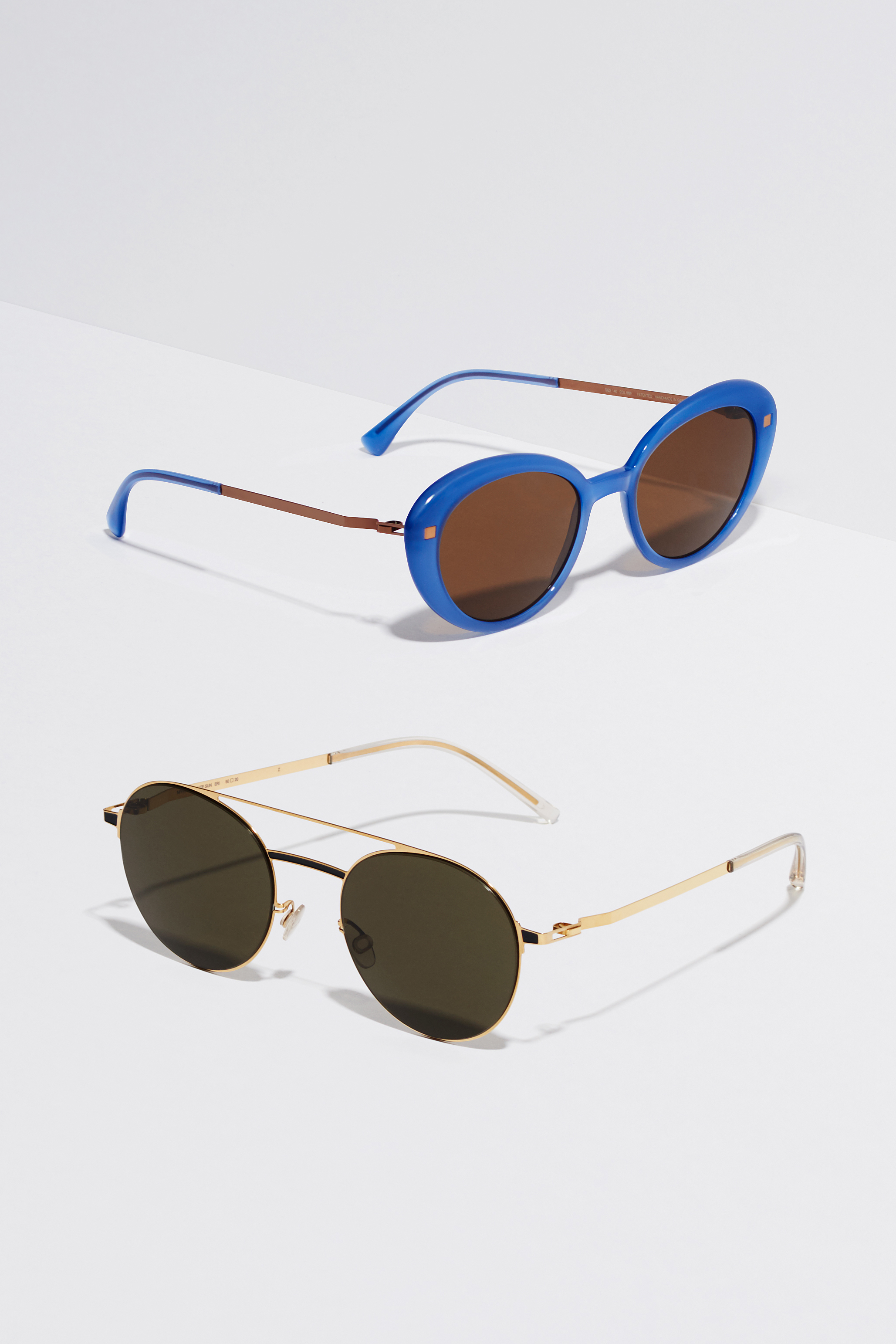 18d9aa62e MYKITA Lite Acetate Sun Luava C88 Misty Blue Shiny Copper Brown Solid  MYKITA Lite Acetate Sun