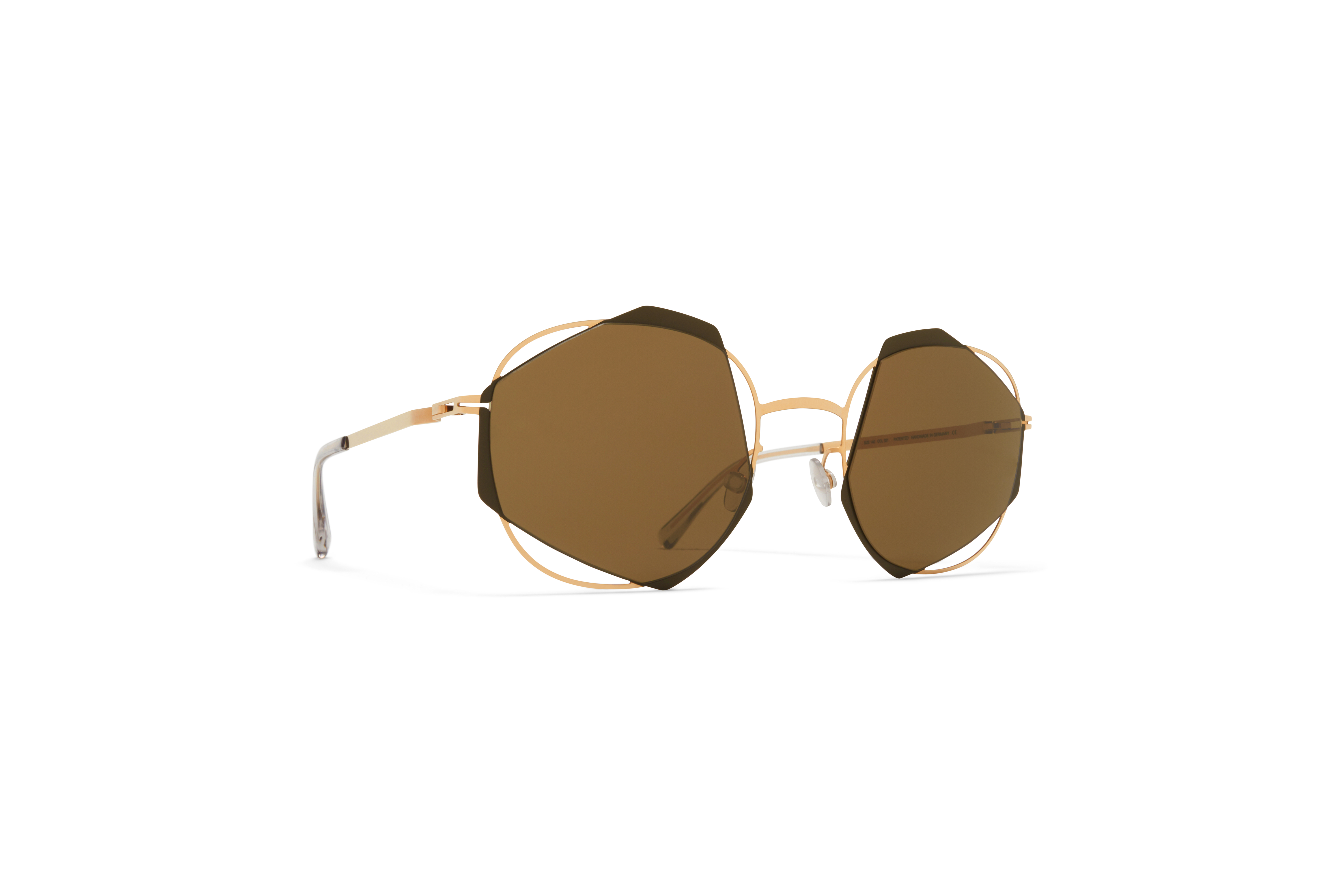 MYKITA Dd Sun Achilles Champagne Gold Camou Green Raw Brown Solid