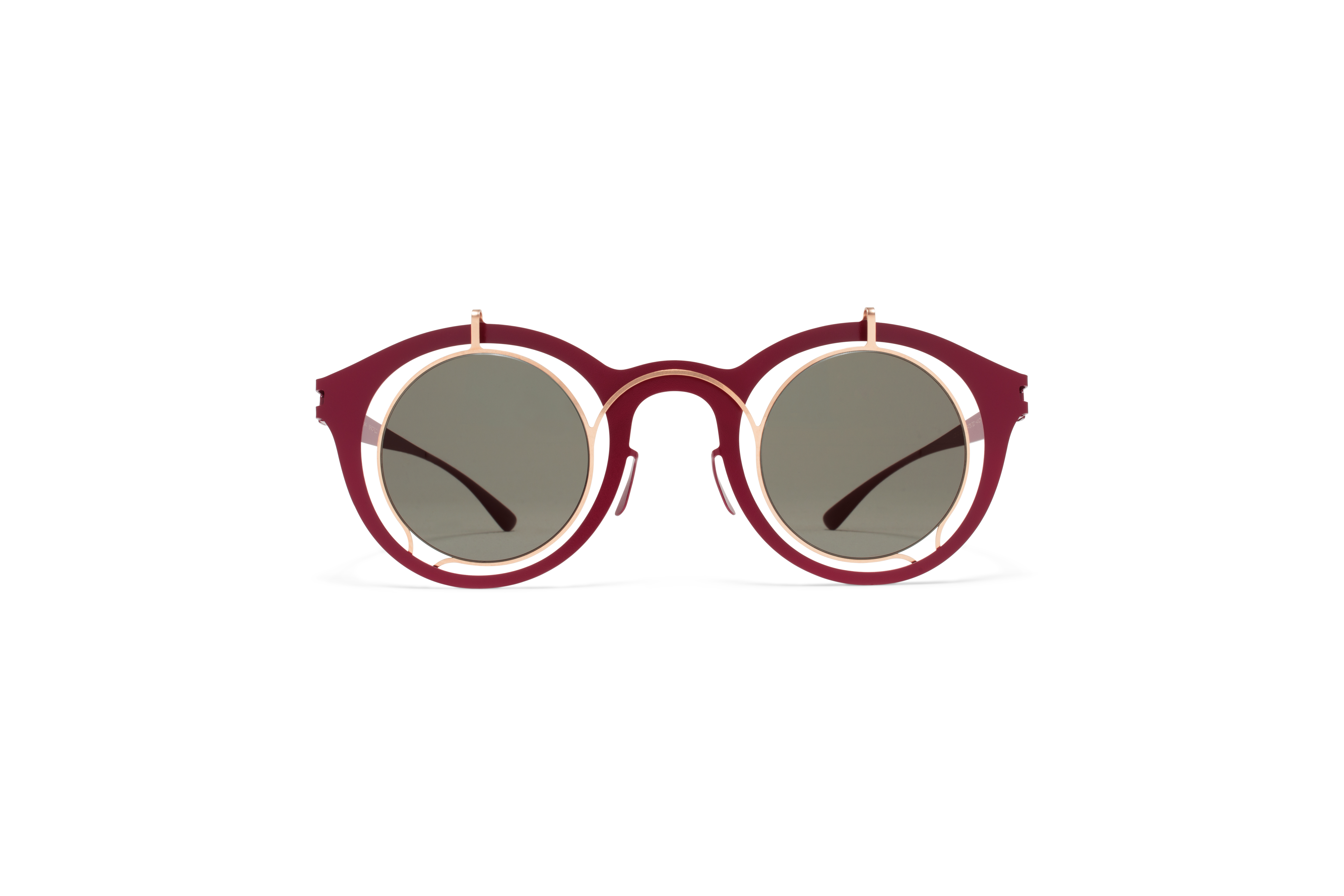 MYKITA Dd Sun Bradfield Champagne Gold Wine Red