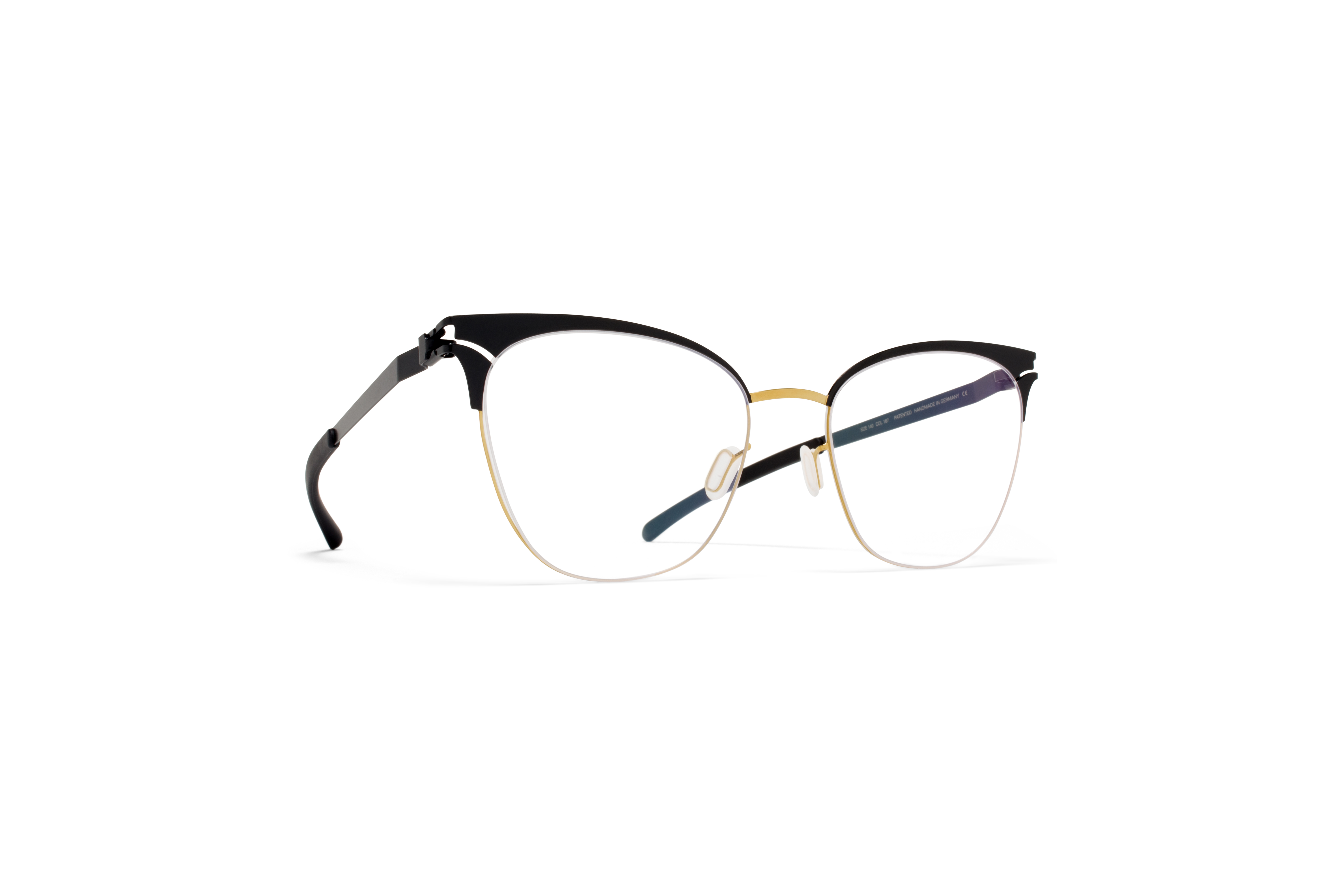 MYKITA Decades Rx Bessy Gold Jetblack Clear