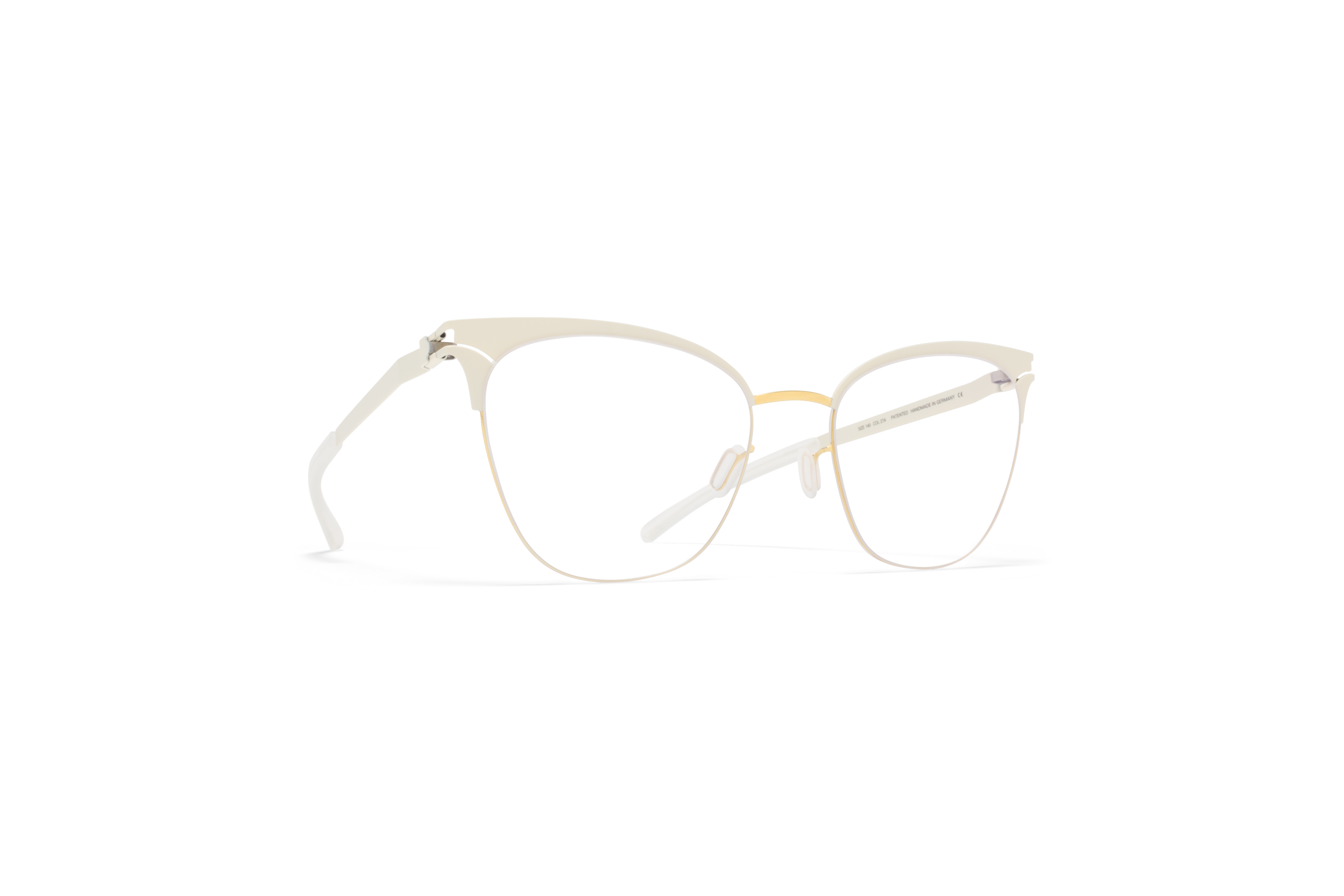 MYKITA Decades Rx Bessy Gold Offwhite Clear