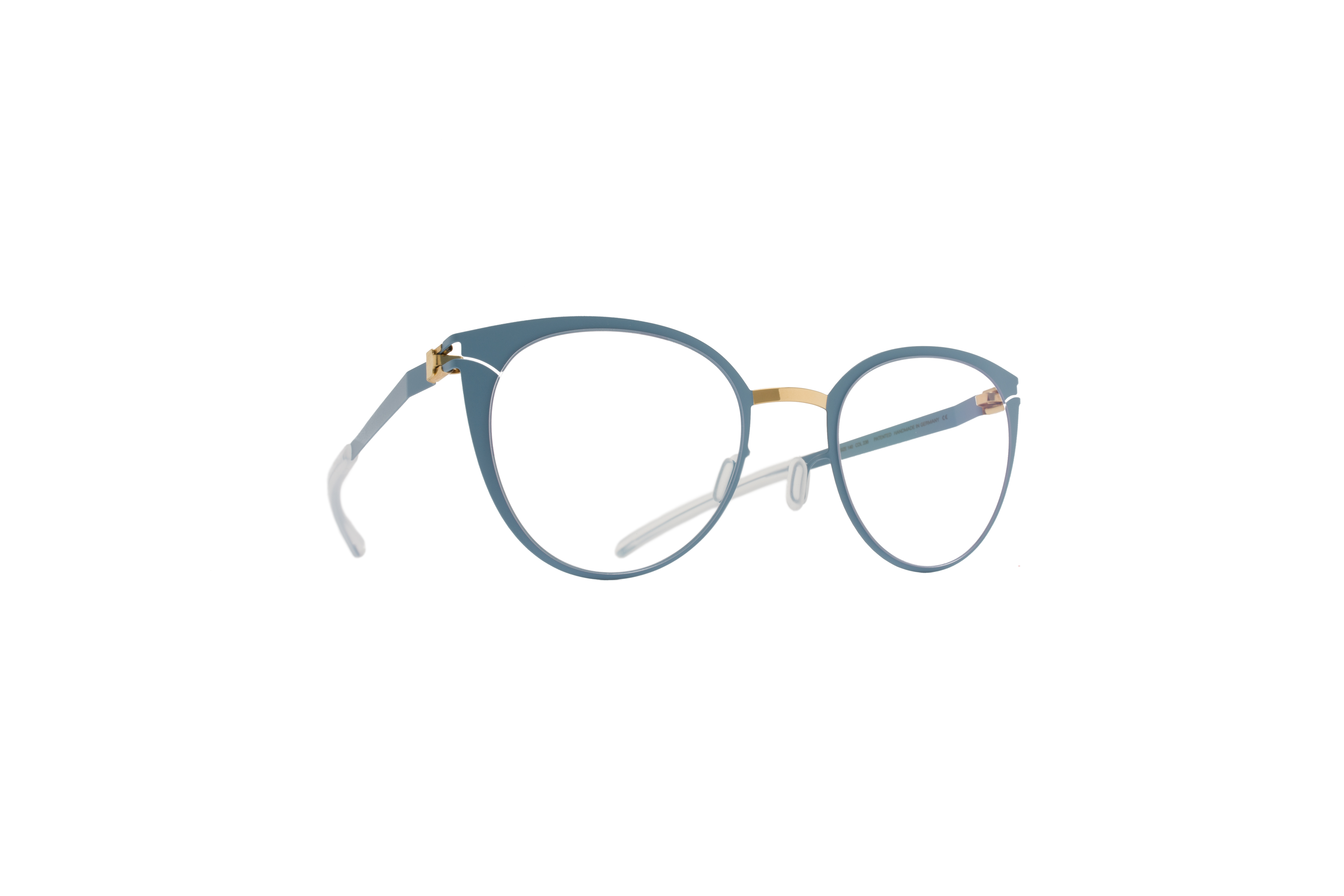 MYKITA Decades Rx Carole Gold Bluegrey Clear