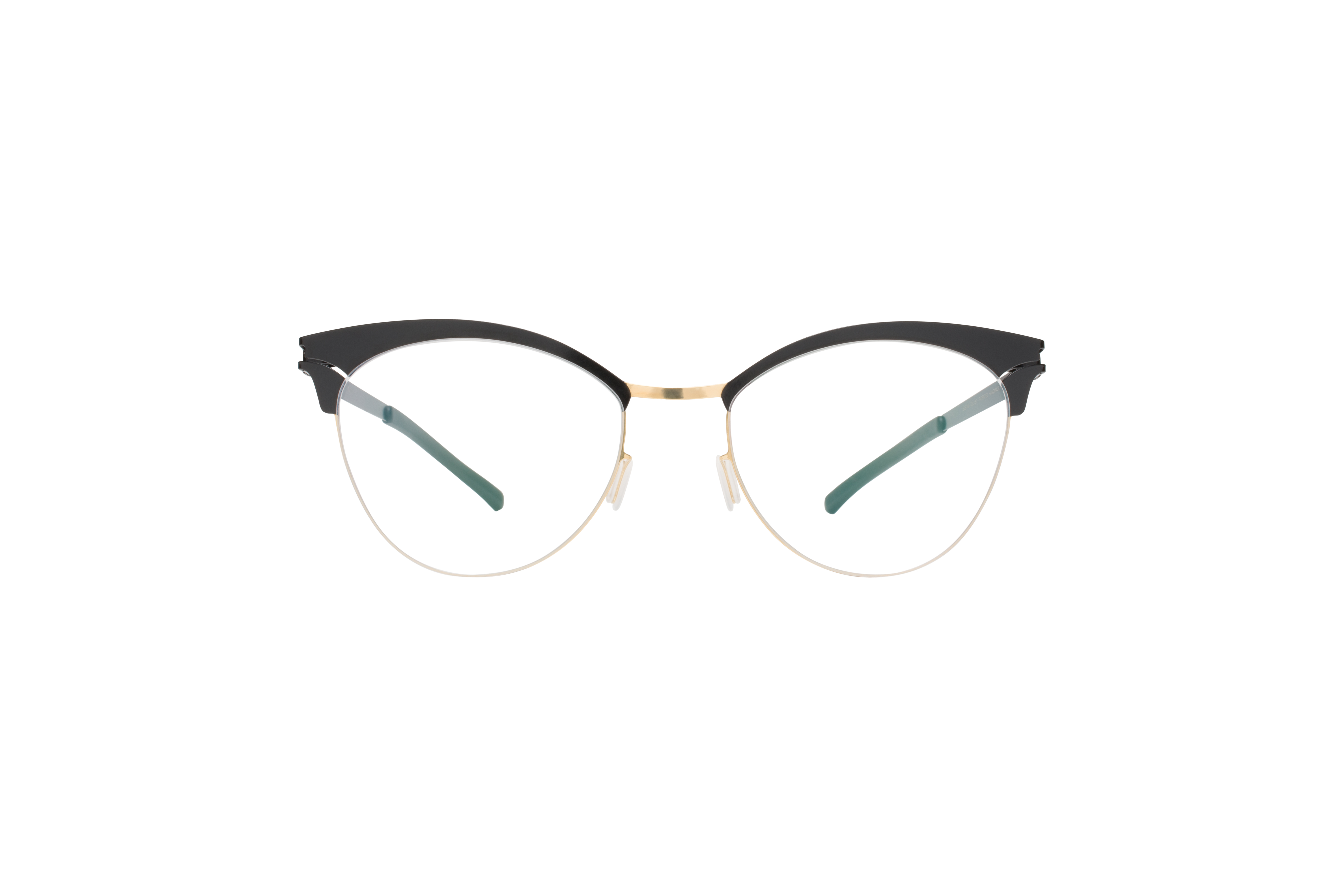 MYKITA Decades Rx Coralie Gold Jetblack Clear
