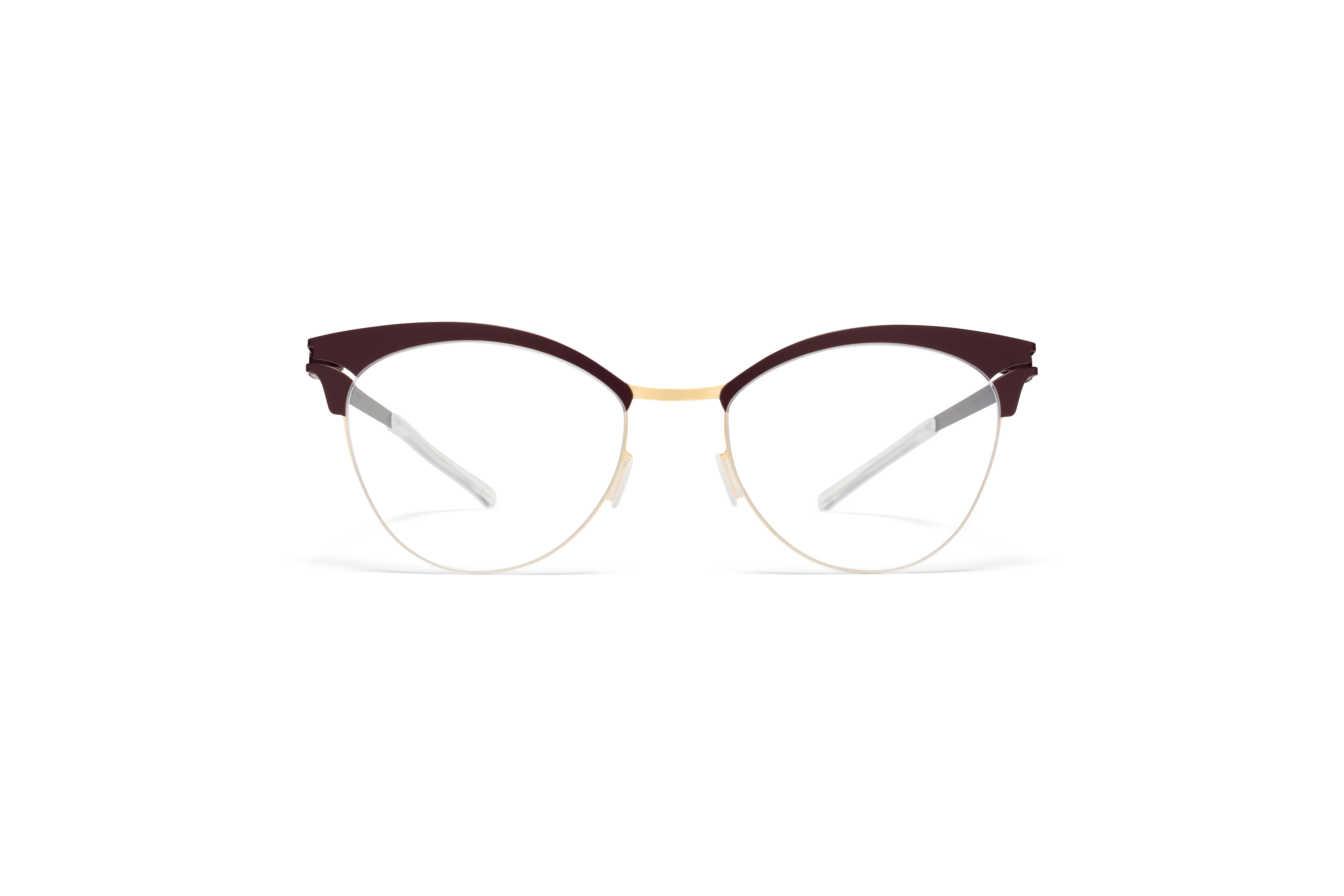 MYKITA Decades Rx Coralie Gold Plum Clear