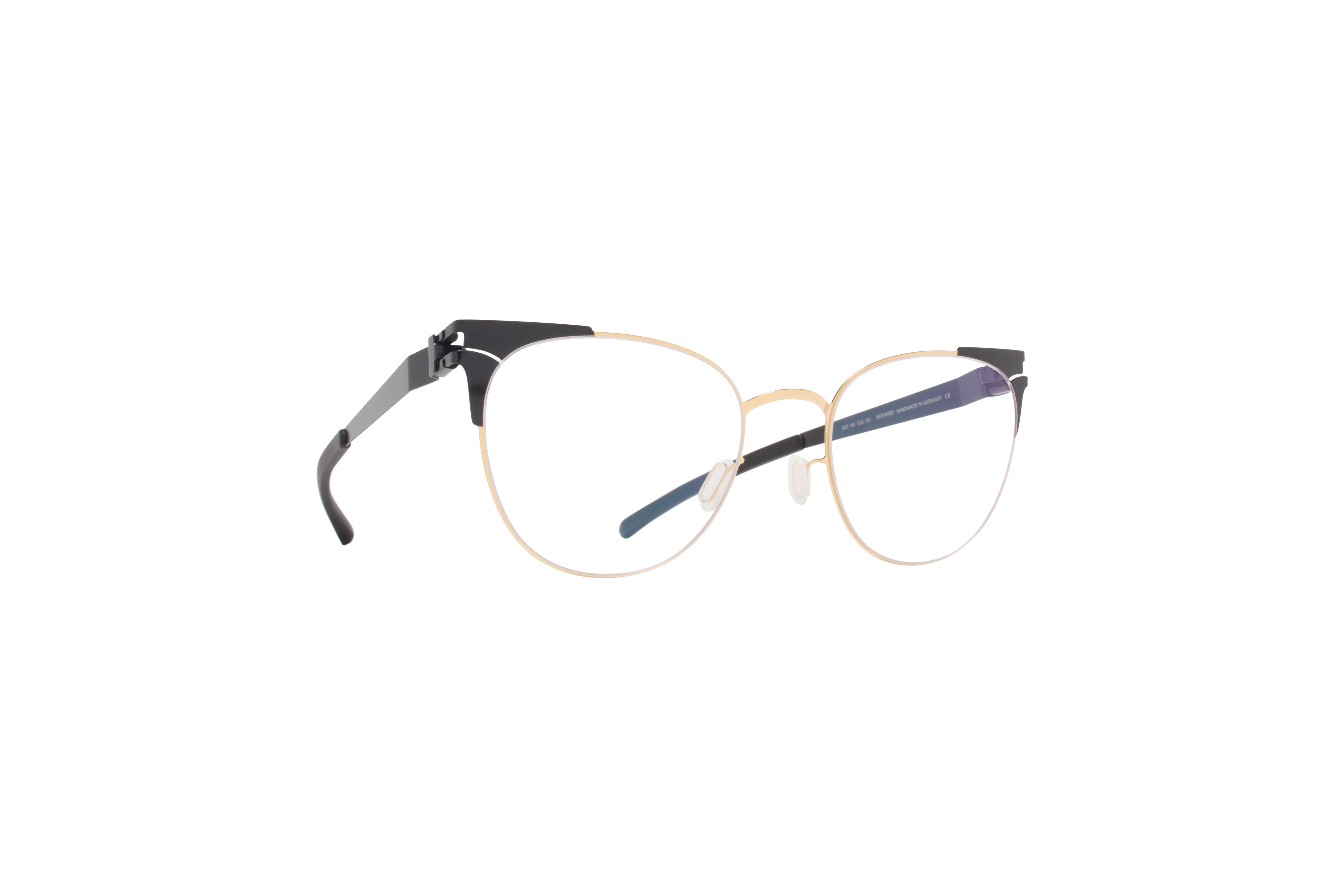 MYKITA Decades Rx Drew Gold Jetblack Clear