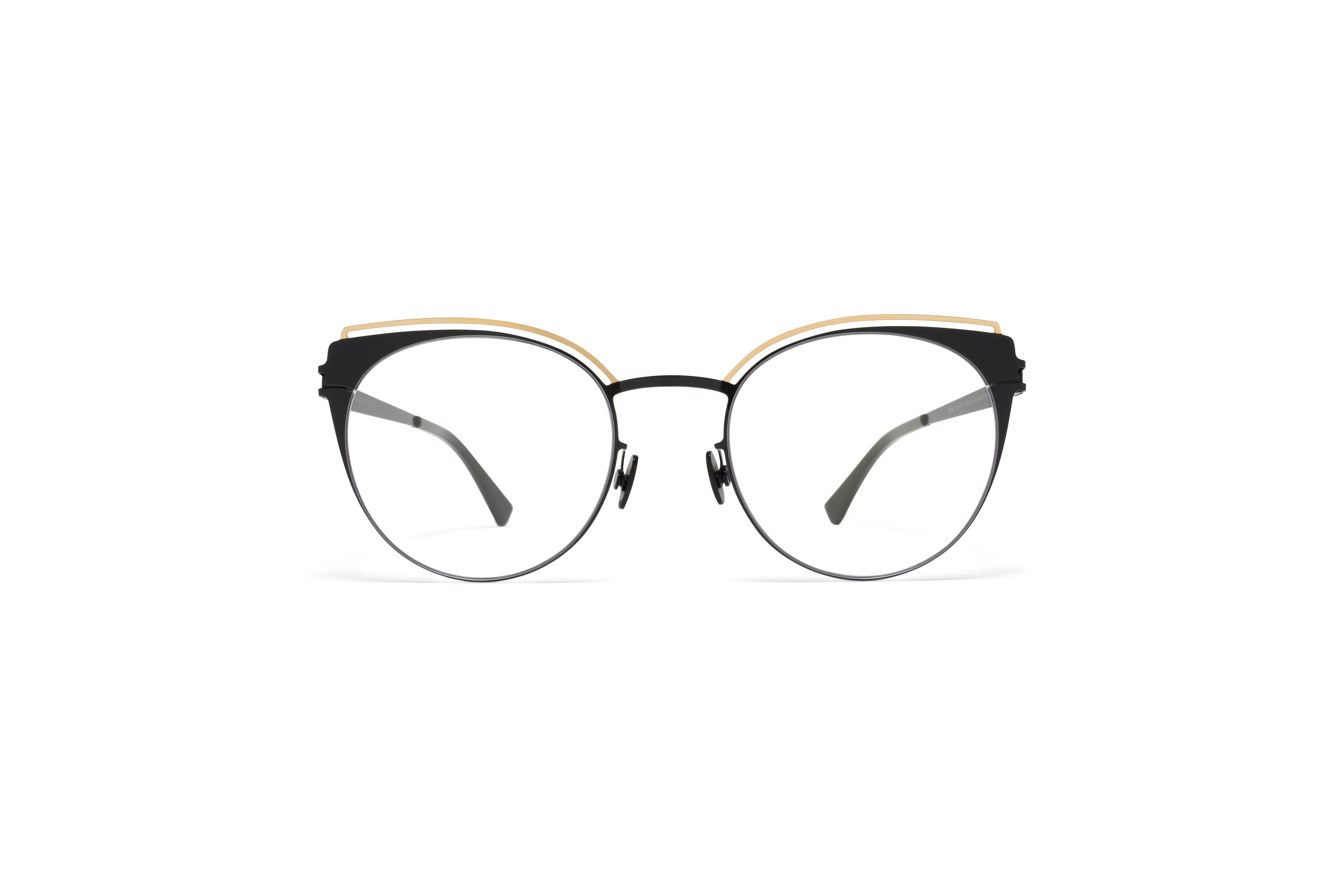 MYKITA Decades Rx Tata Gold Jet Black Clear