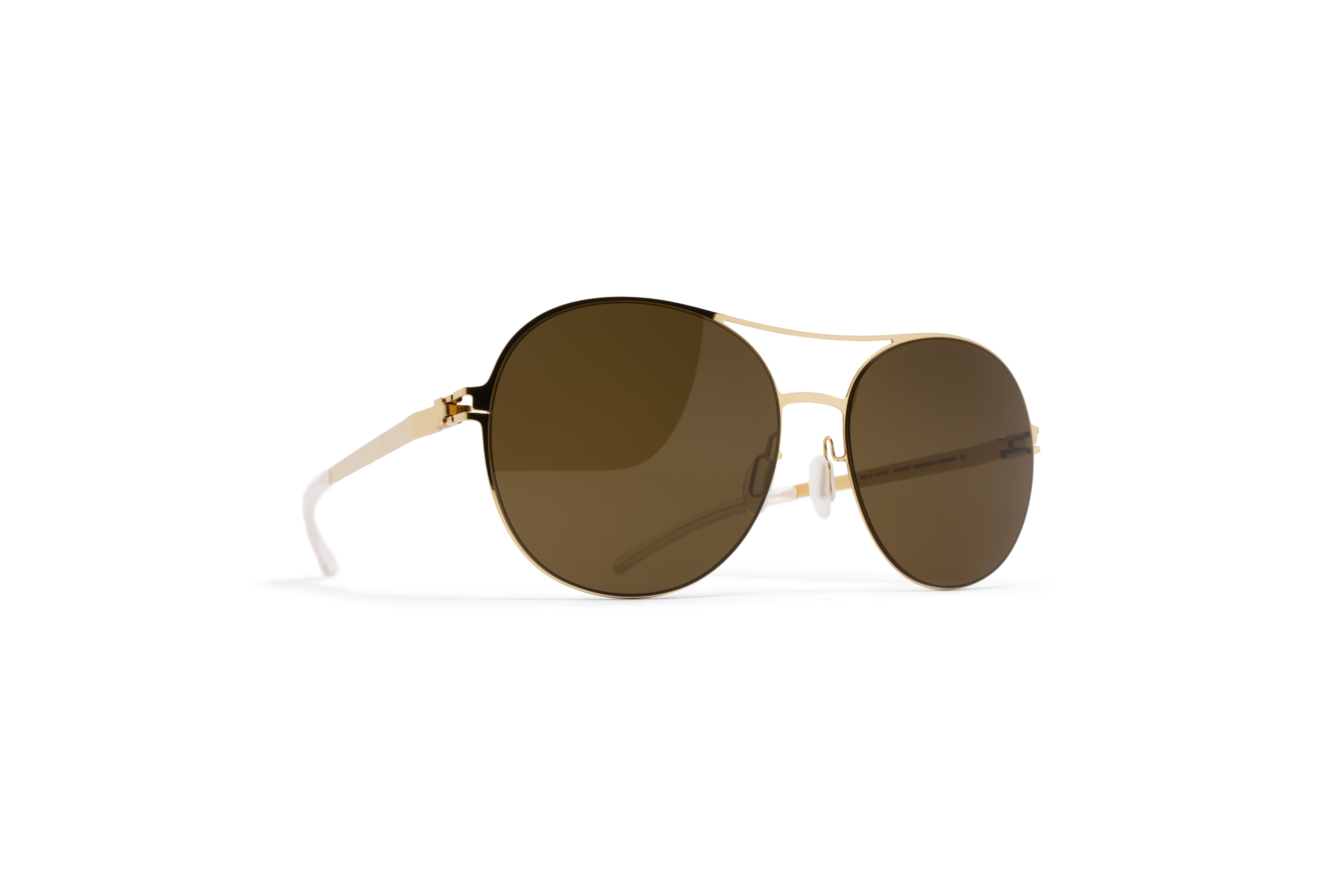 MYKITA Decades Sun Adelheid Glossygold Rawbrown So