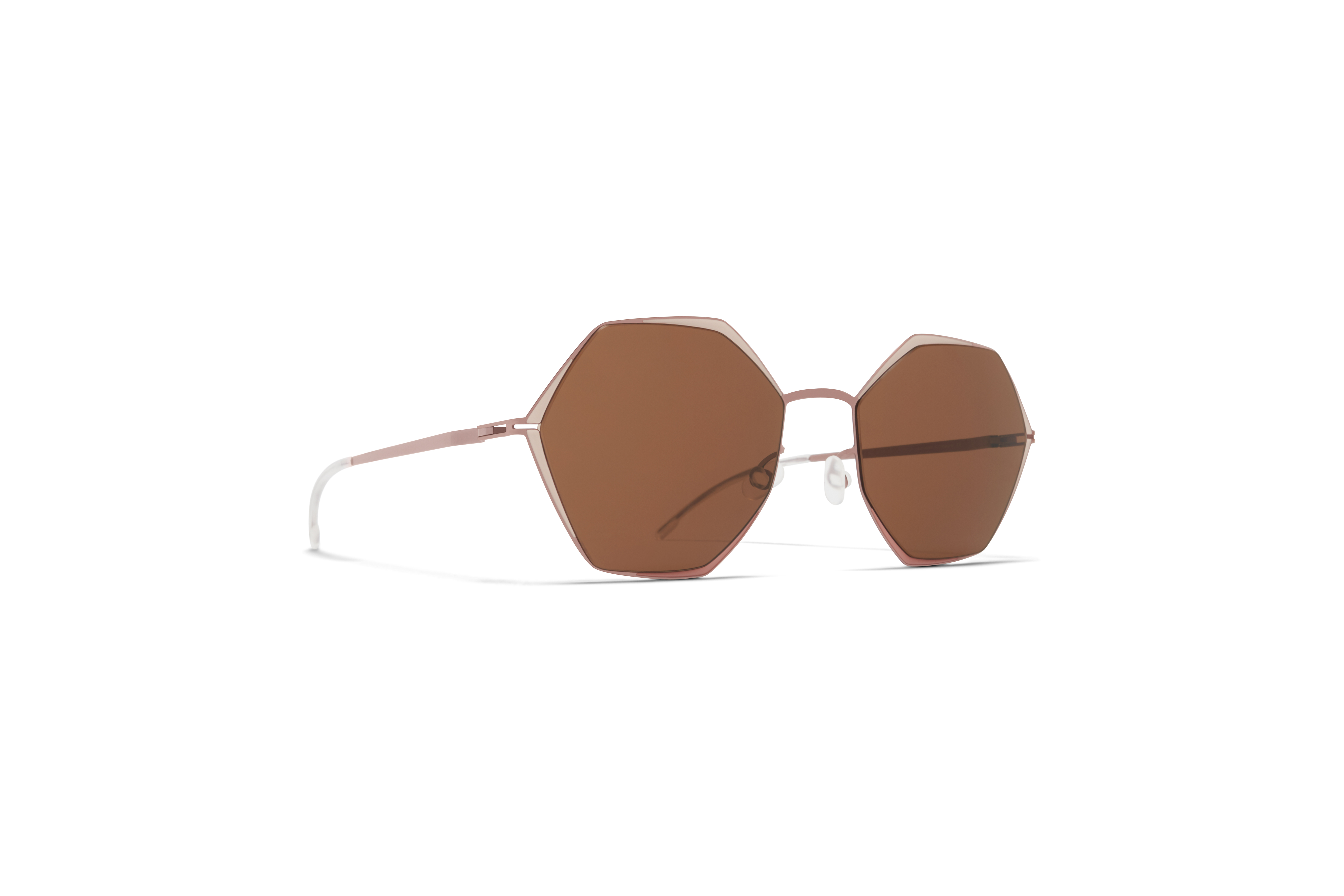 MYKITA Decades Sun Alessia Purple Bronze Sand Pink Clay Brown Solid