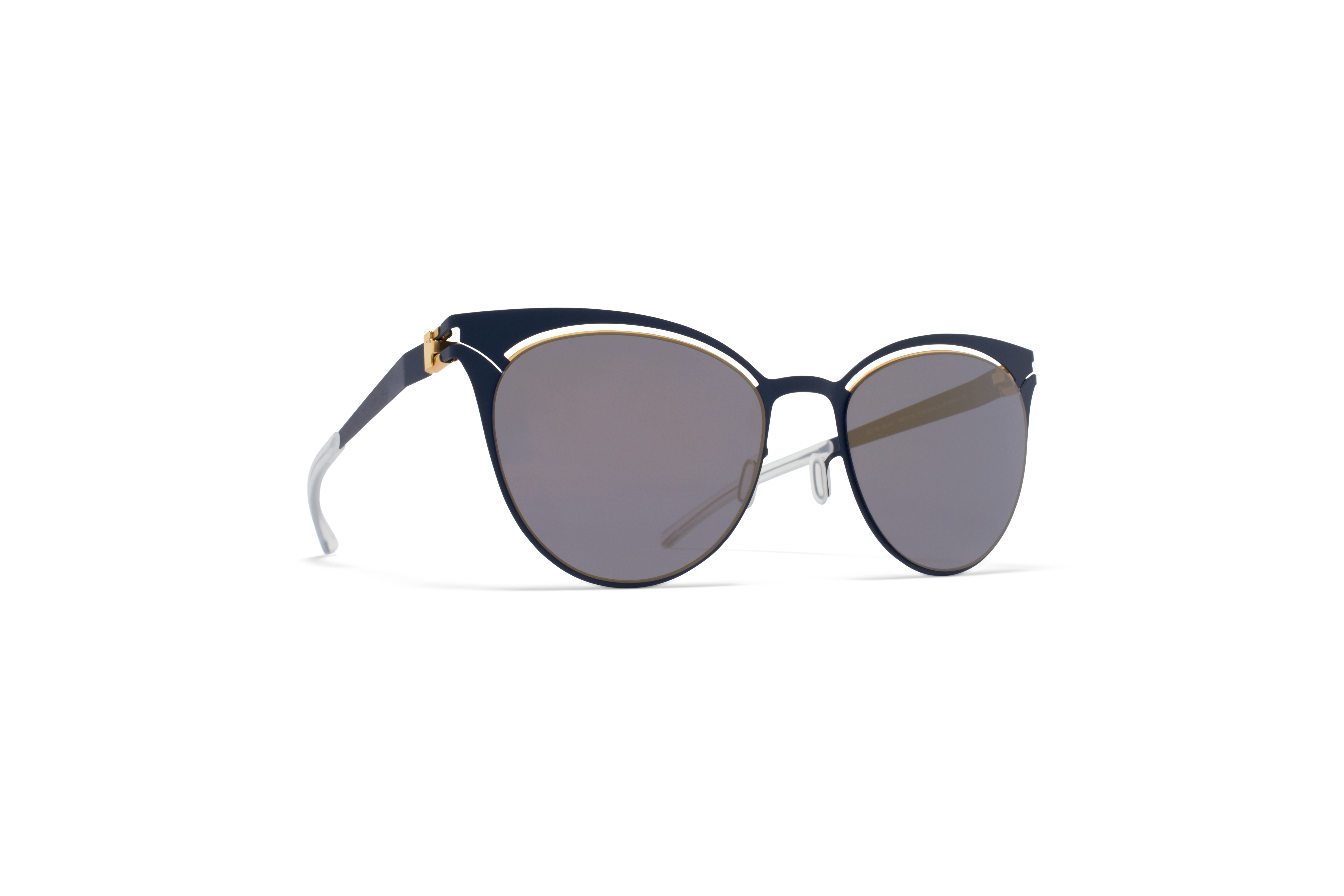 MYKITA Decades Sun Cara Gold Indigo Brilliant Grey58ab1c712585f