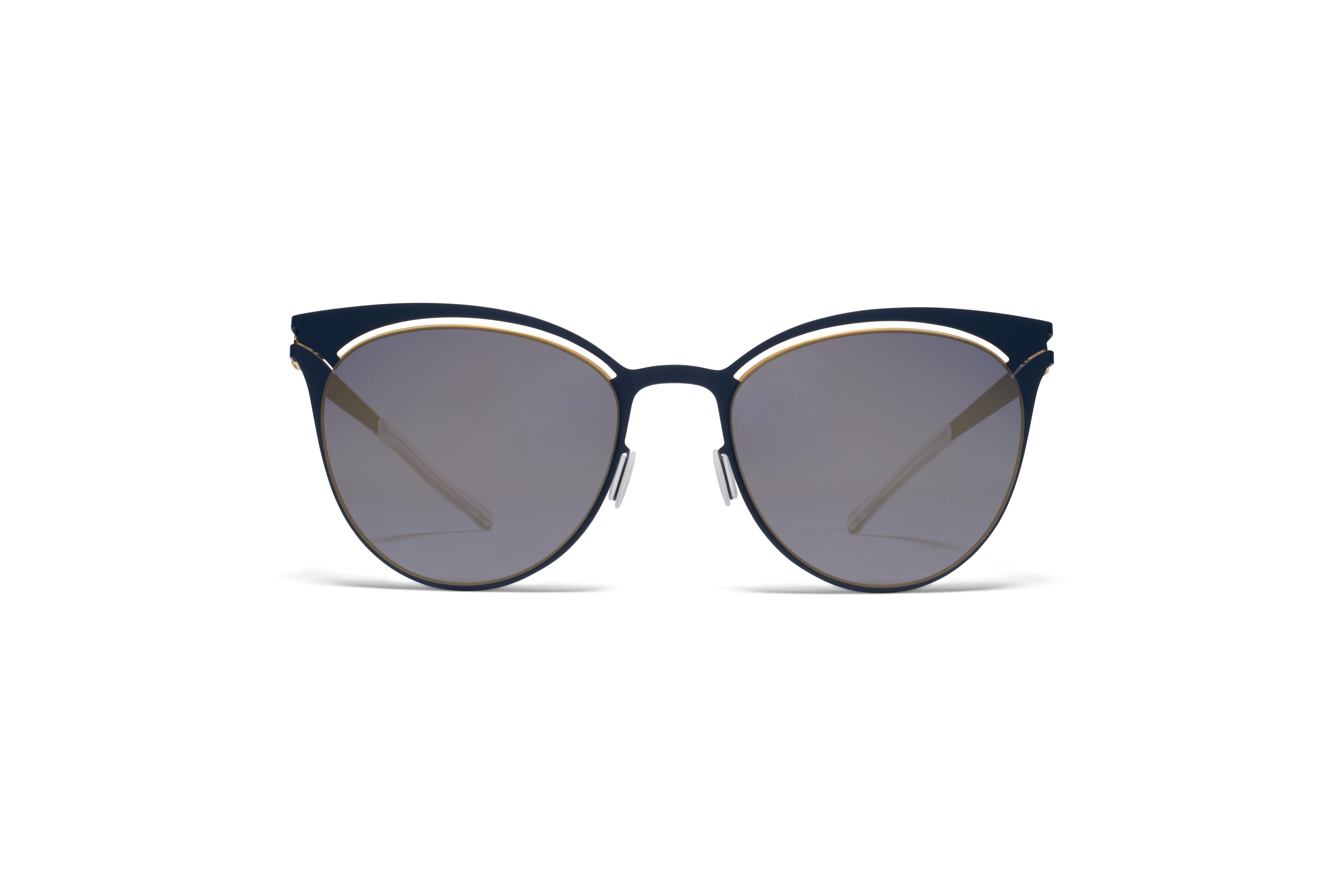 MYKITA Decades Sun Cara Gold Indigo Brilliant Grey58ab1c84ef8e1