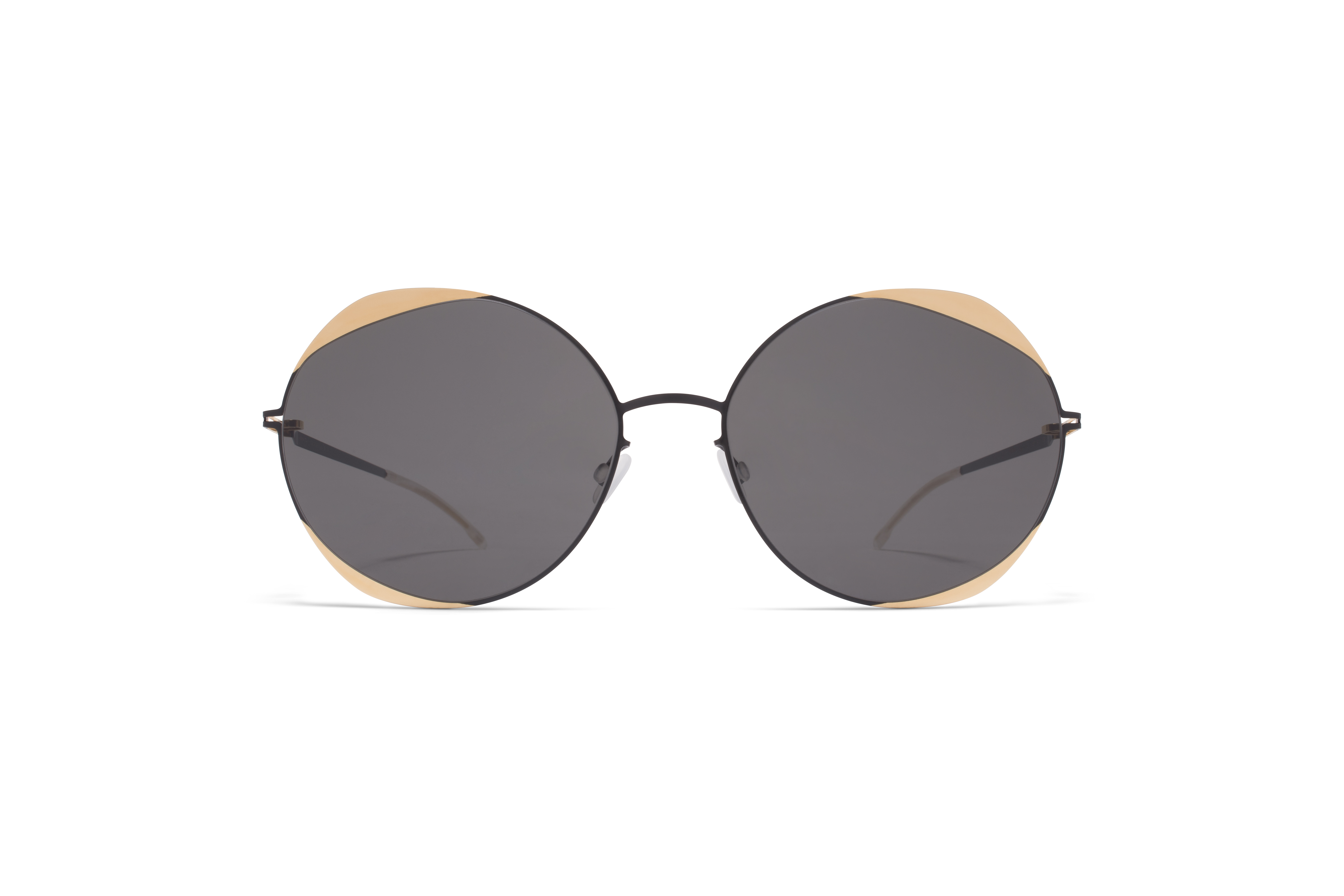 MYKITA Decades Sun Elisa Jet Black Gold Dark Grey Solid