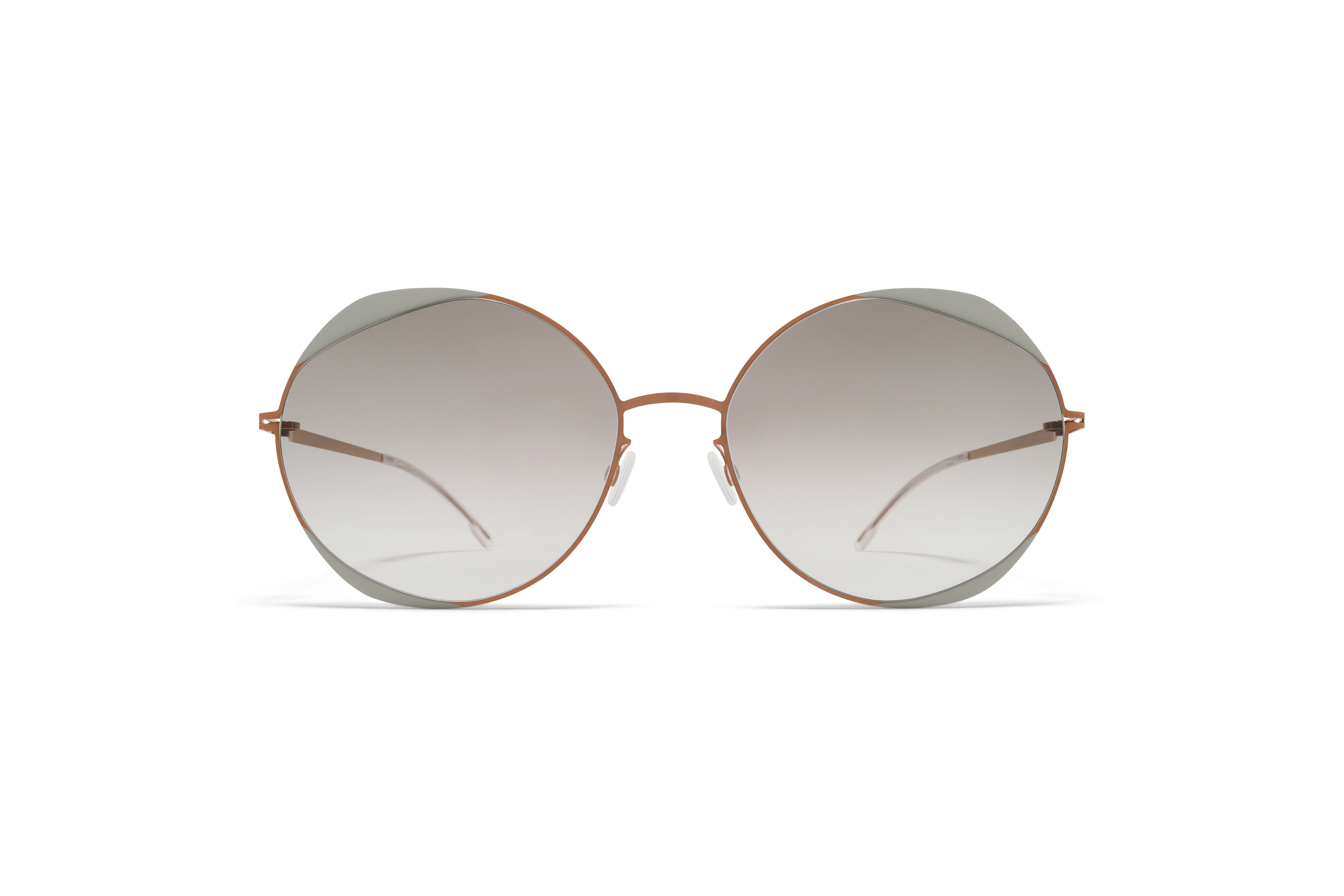 MYKITA Decades Sun Elisa Shiny Copper Stone Grey Original Grey Gradient