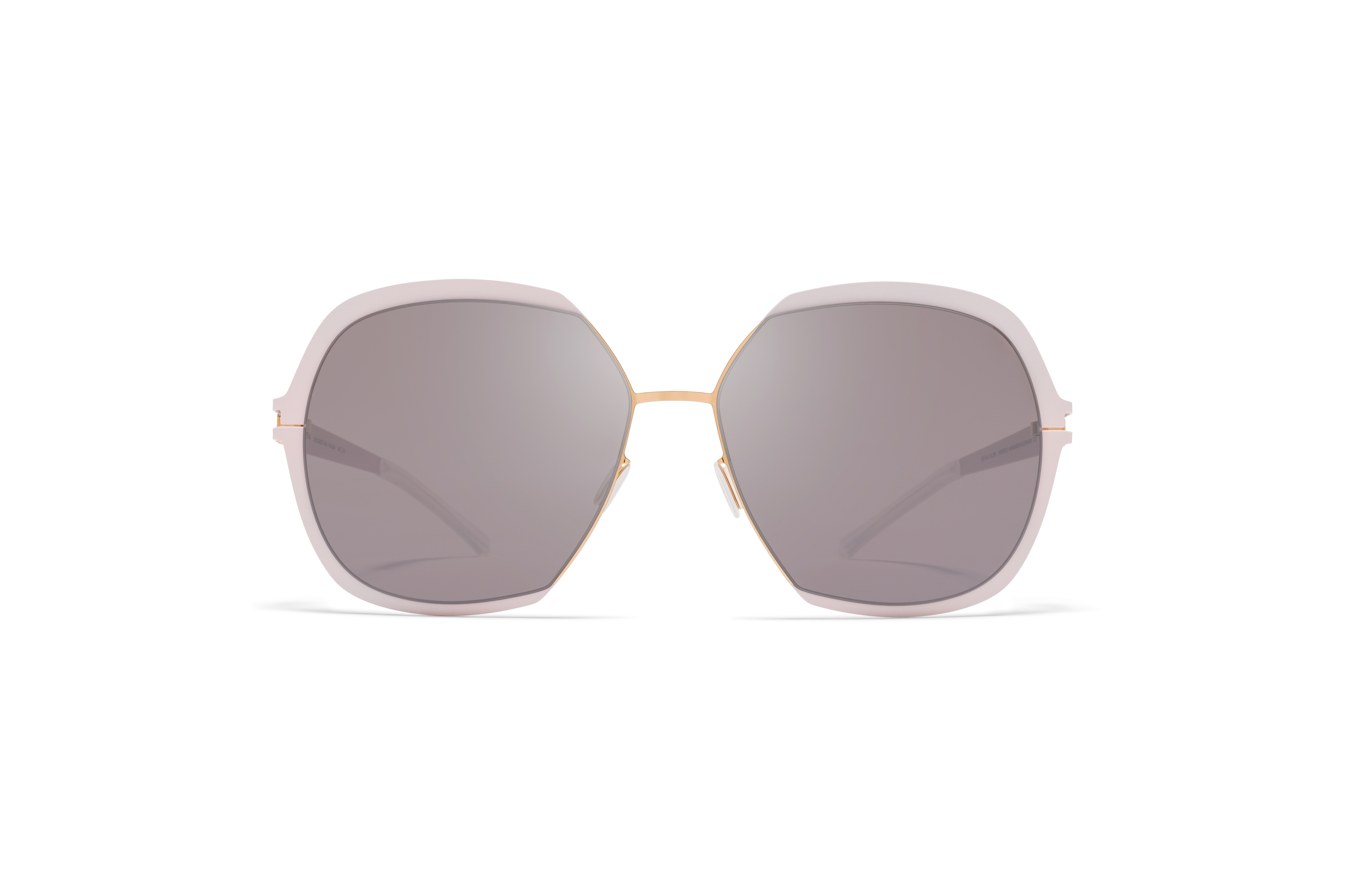 MYKITA Decades Sun Felicia Champagne Gold Aurore Dark Purple Flash
