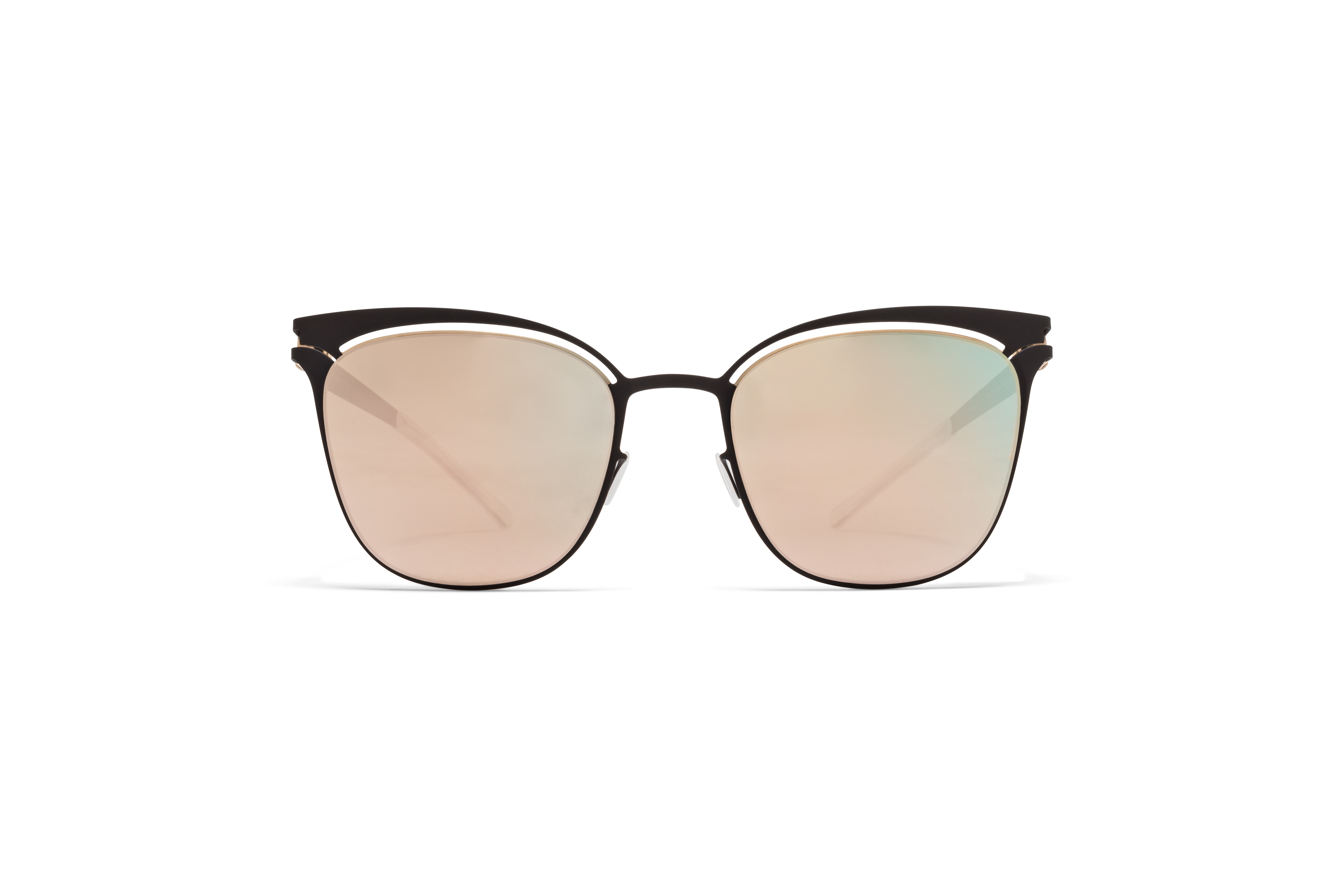MYKITA Decades Sun Gina Champagne Gold Ebony Brown Champagne Gold