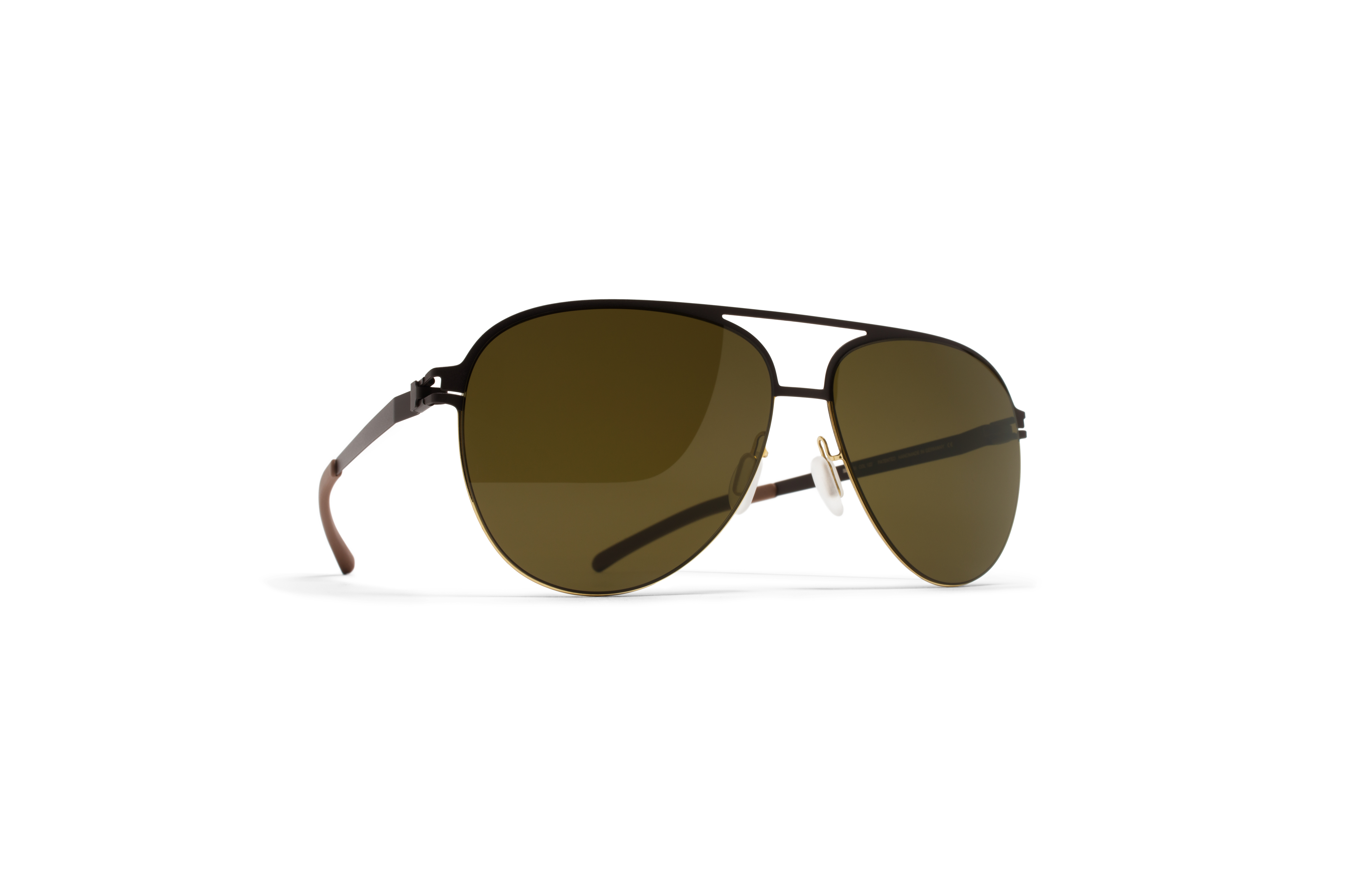 MYKITA Decades Sun Grimbart Gold Darkbrown Rawbrow