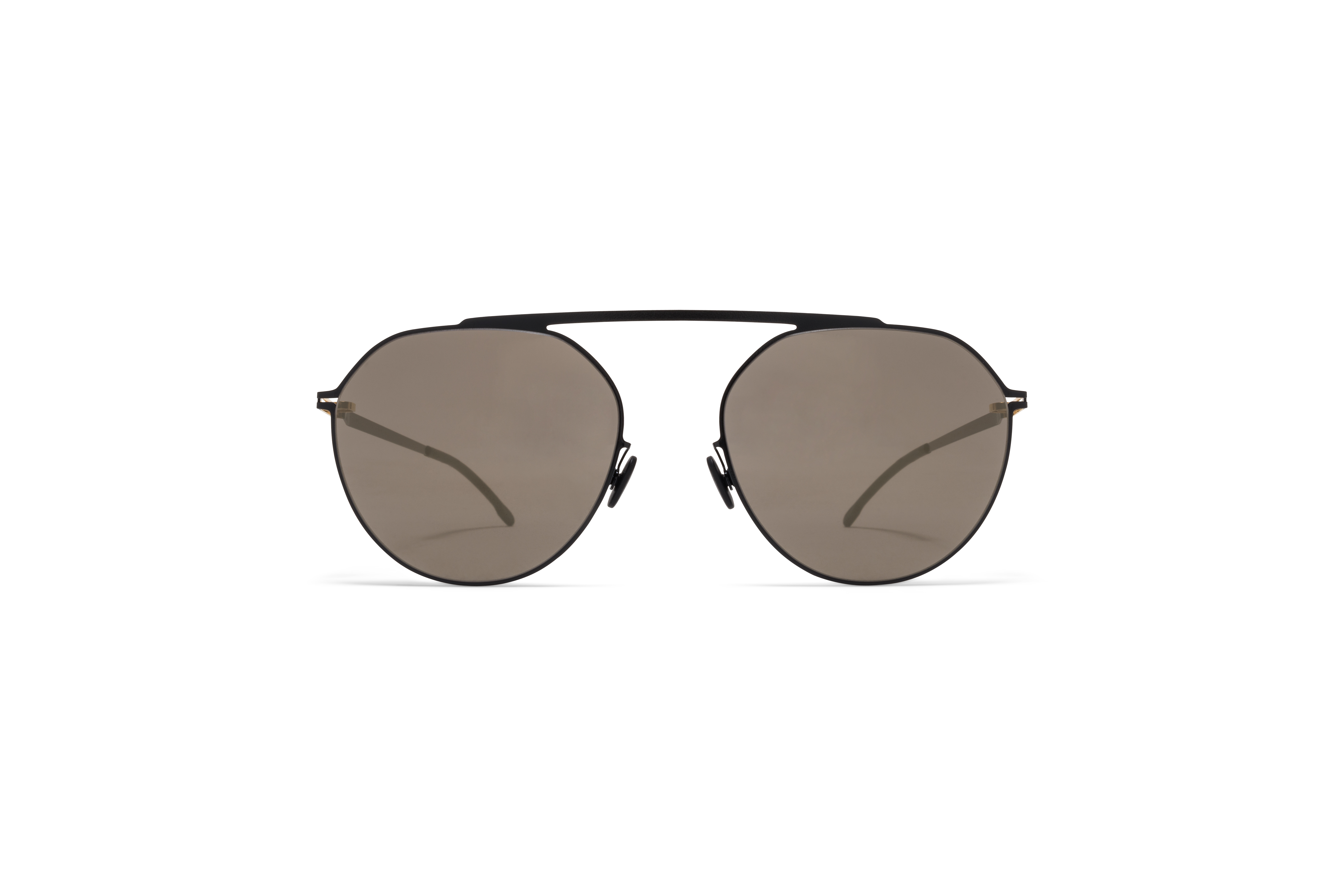 MYKITA Decades Sun Solomon Gold Jet Black Brilliant Grey Solid