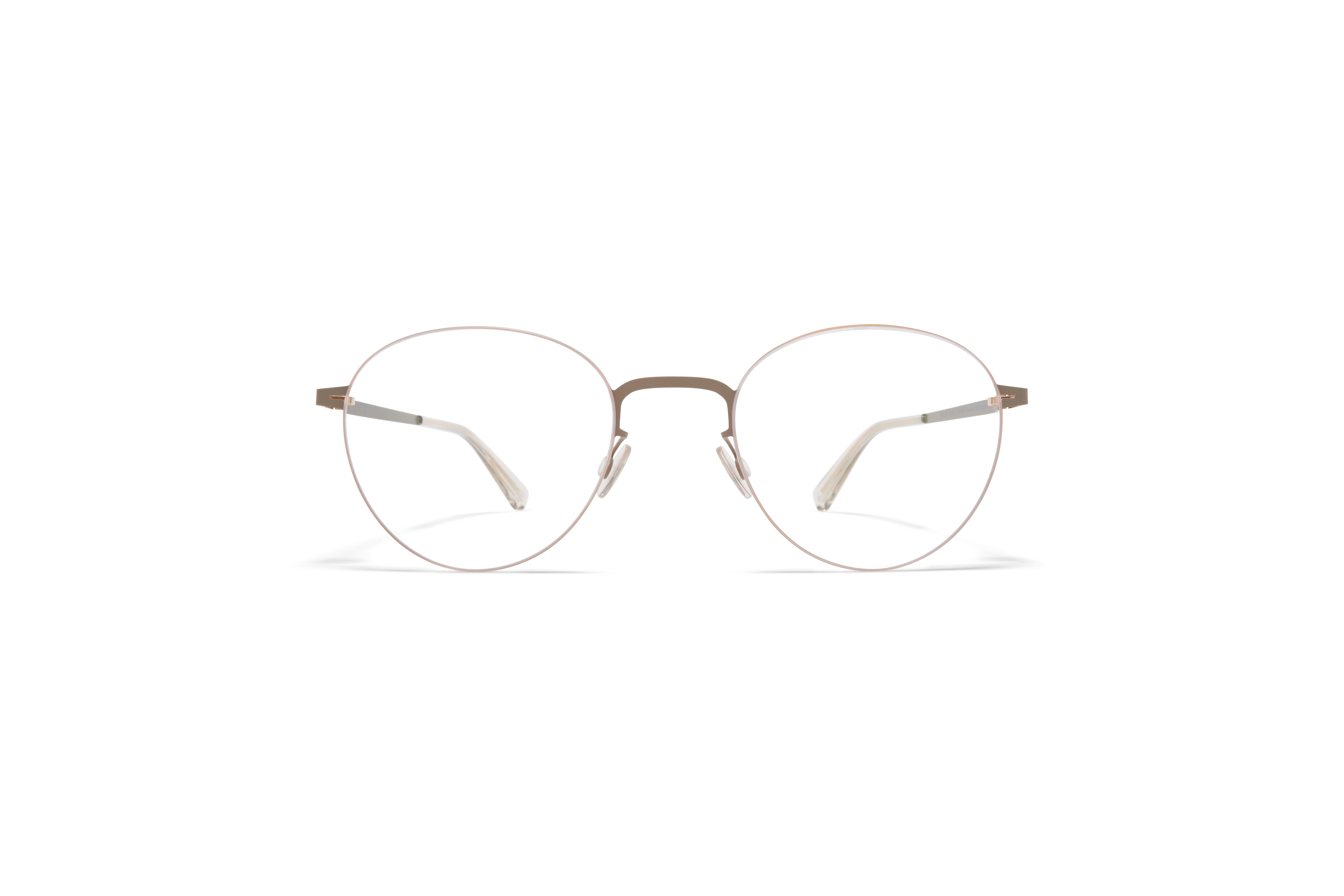 MYKITA Less Rim Rx Eito Champagne Gold Taupe Grey Clear