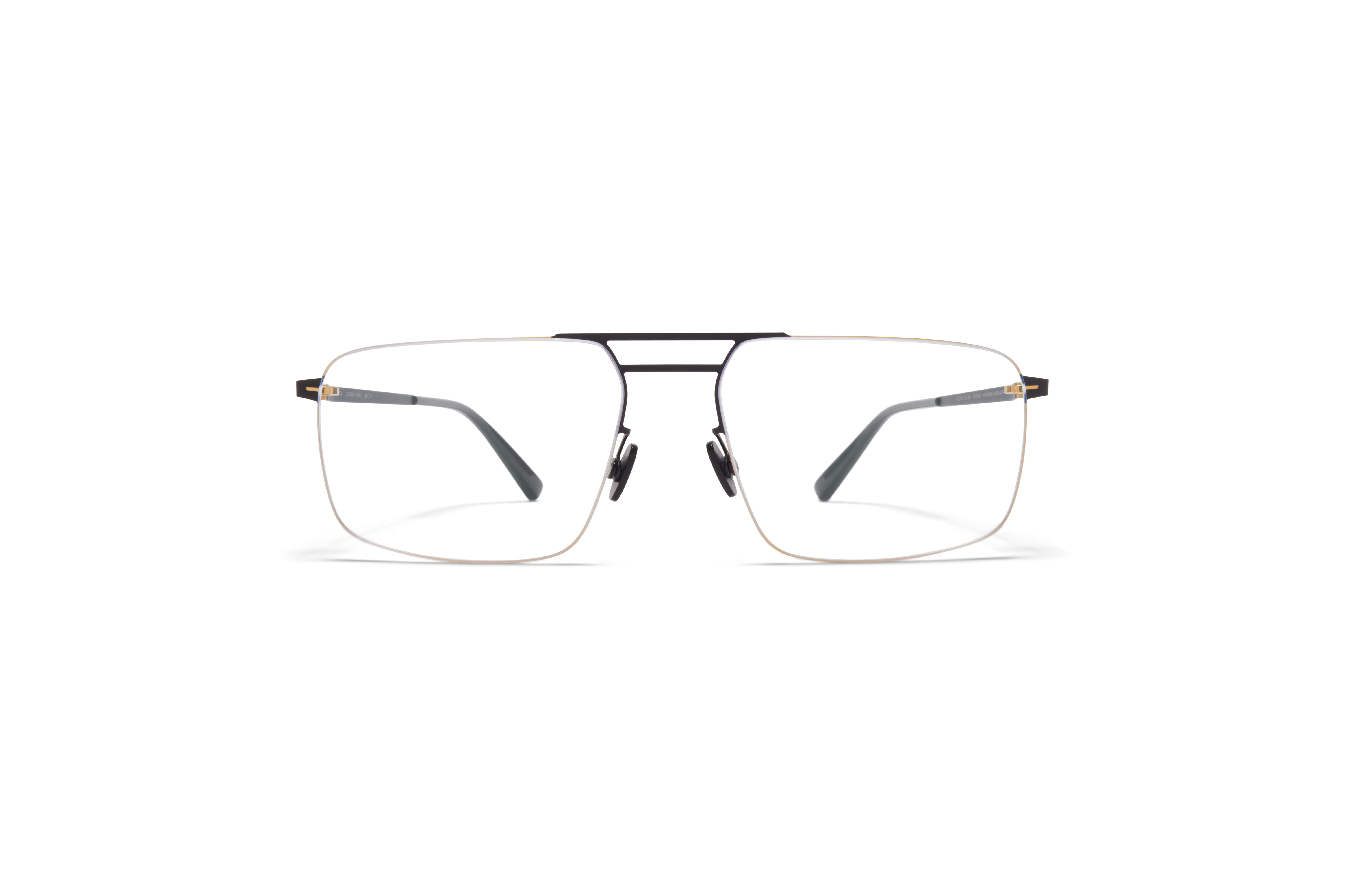 MYKITA Less Rim Rx Hiro Gold Black Clear