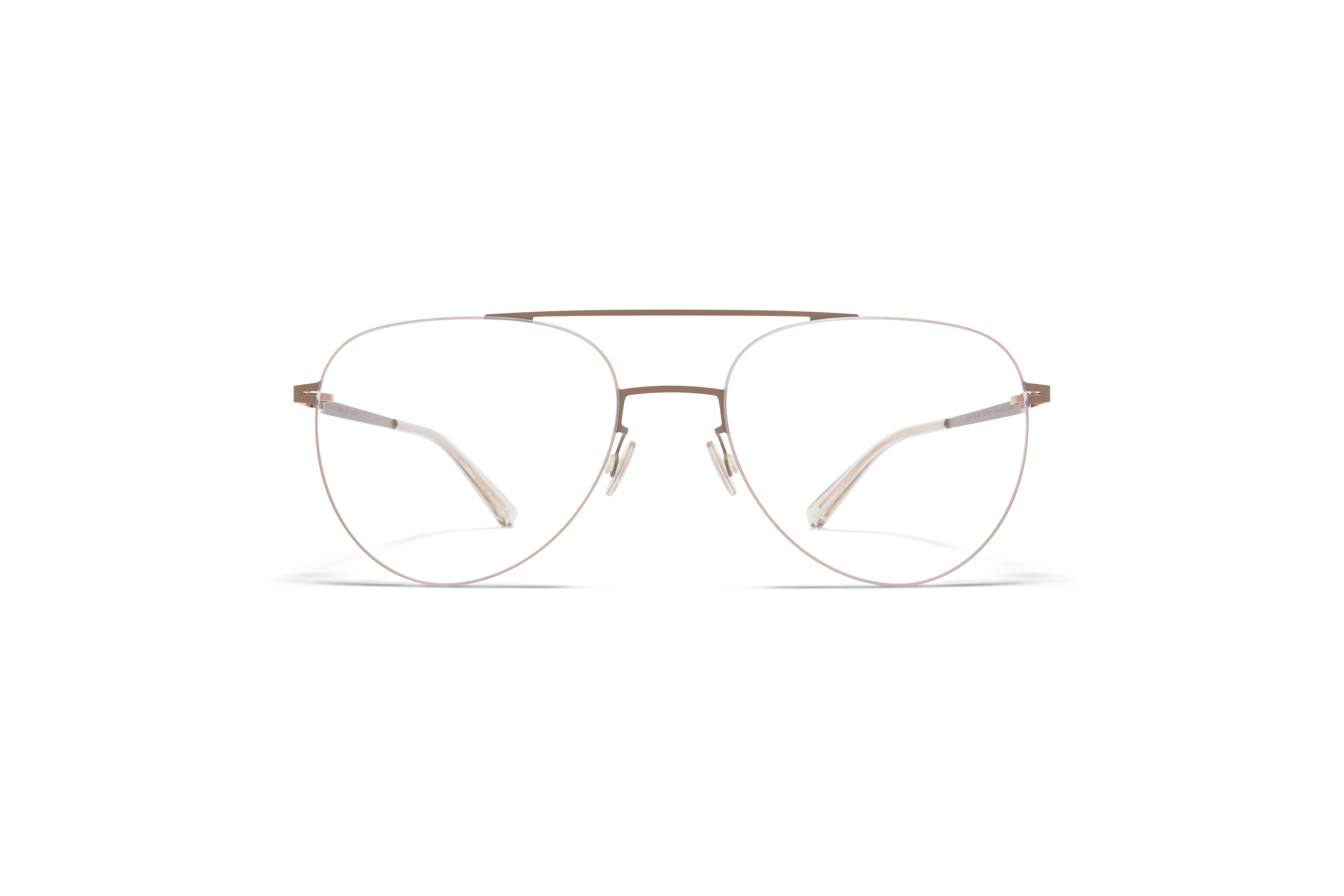 MYKITA Less Rim Rx Jun Champagne Gold Taupe Grey Clear