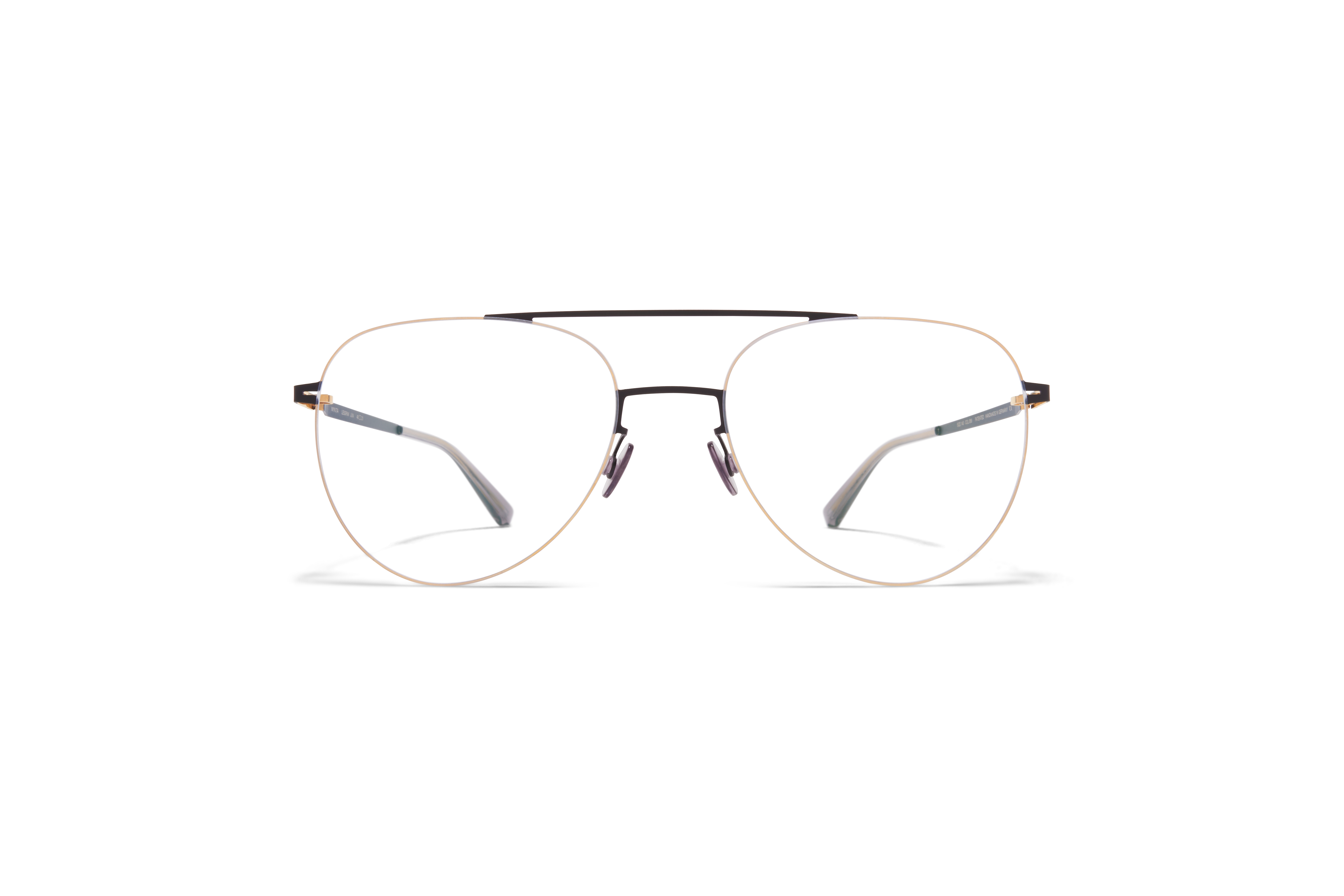 MYKITA Less Rim Rx Jun Gold Black Clear