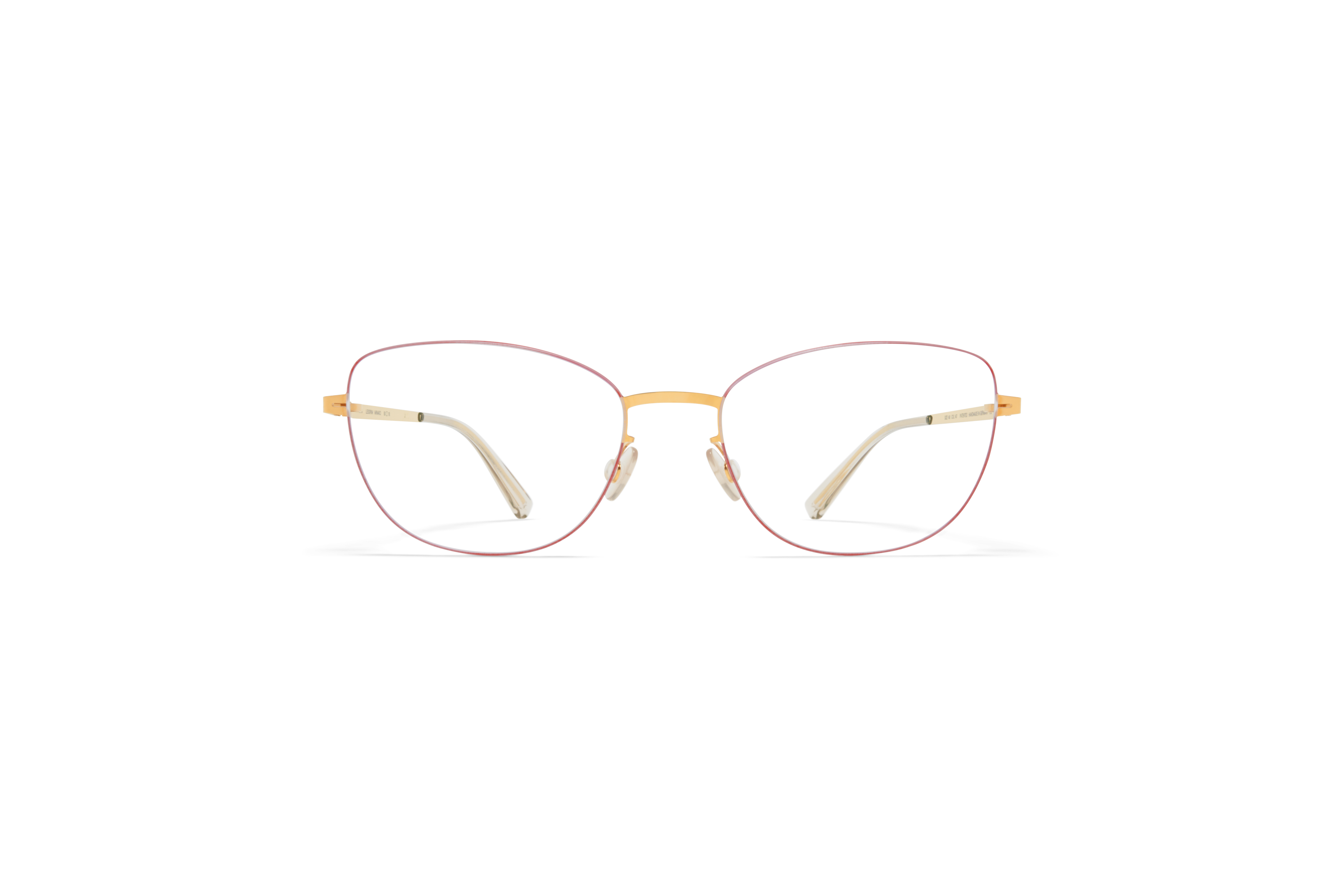 MYKITA Less Rim Rx Minako Gold Coral Red Clear