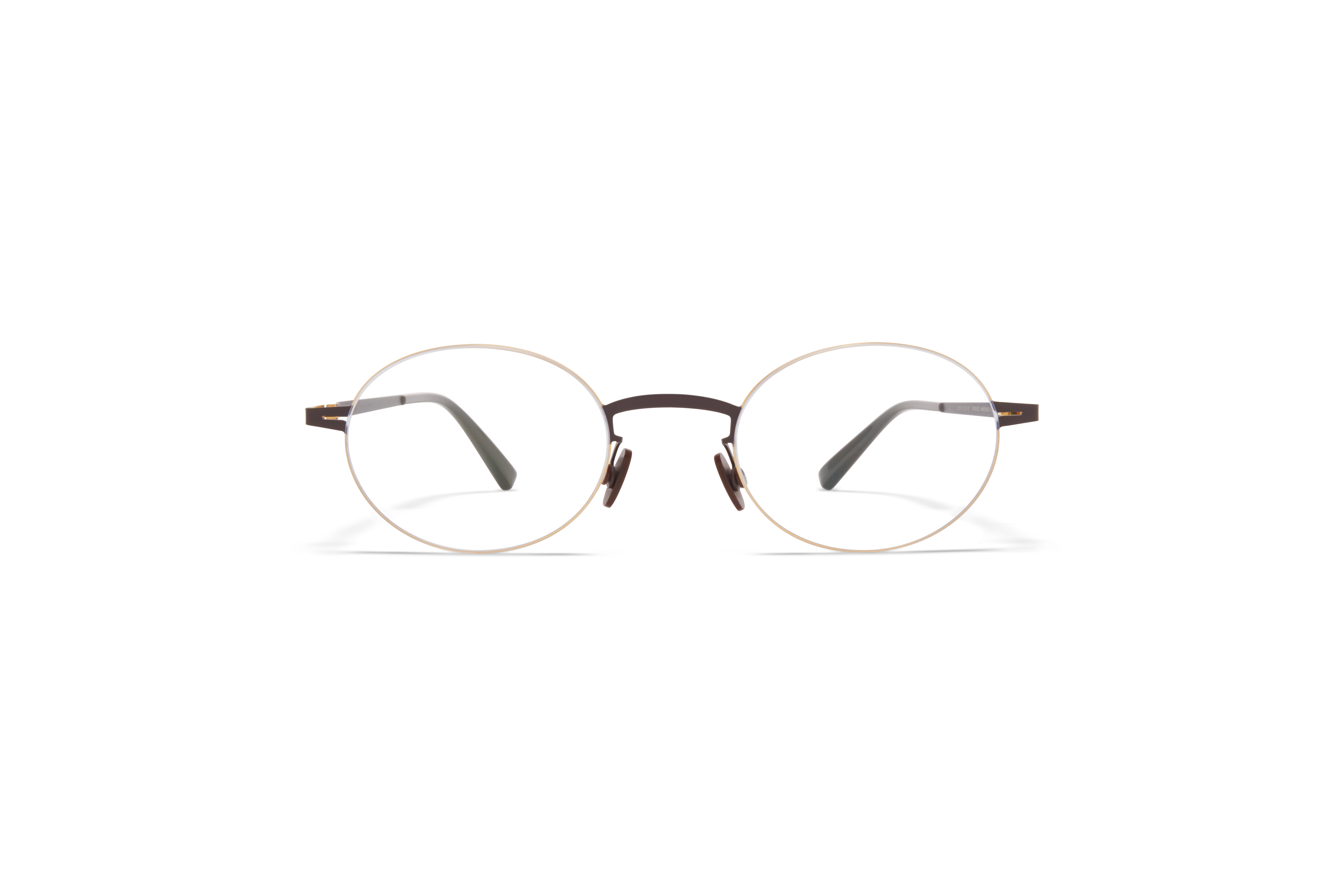 MYKITA Less Rim Rx Naoko Gold Dark Brown Clear