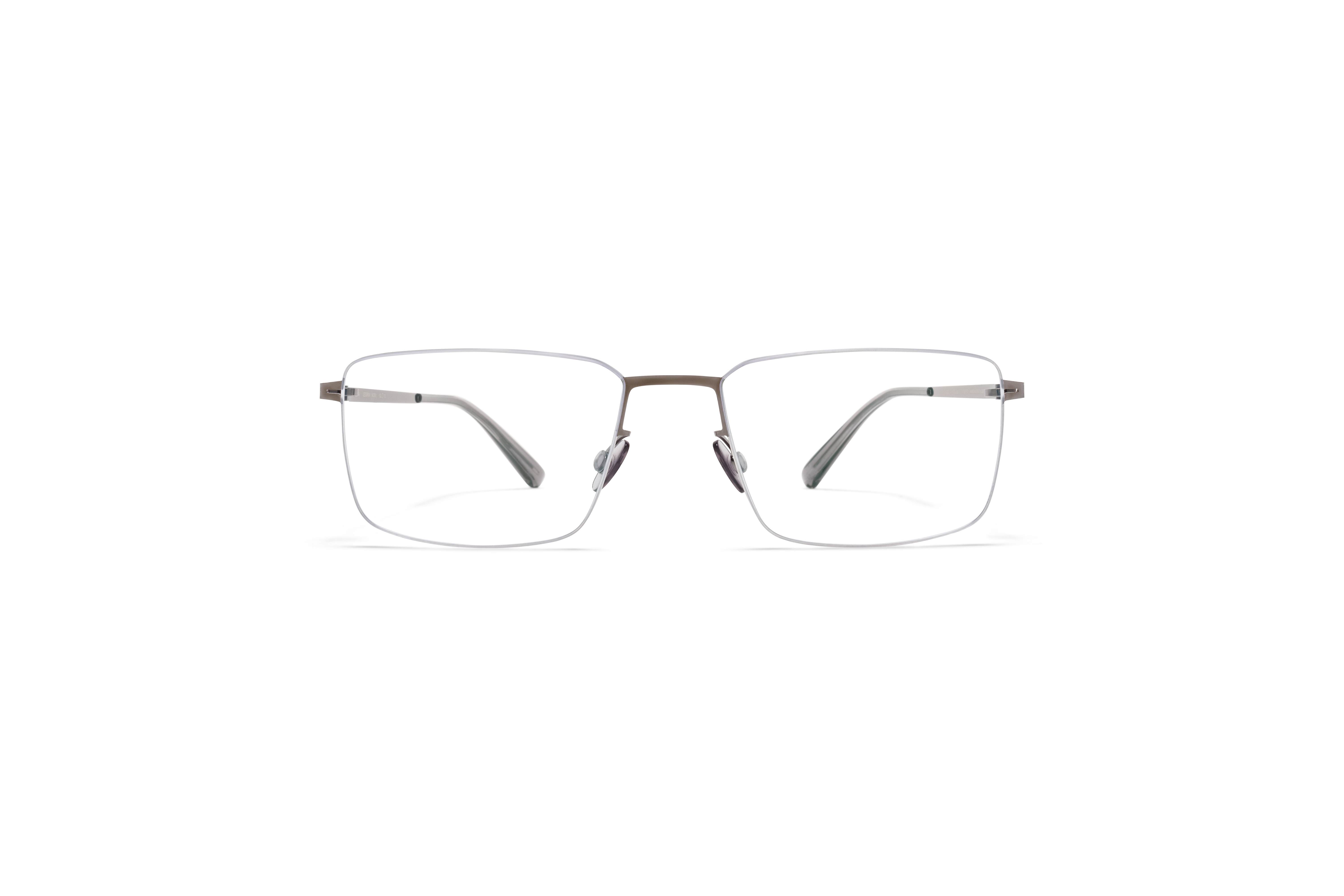 MYKITA Less Rim Rx Nobu Silver Shiny Graphite Clear