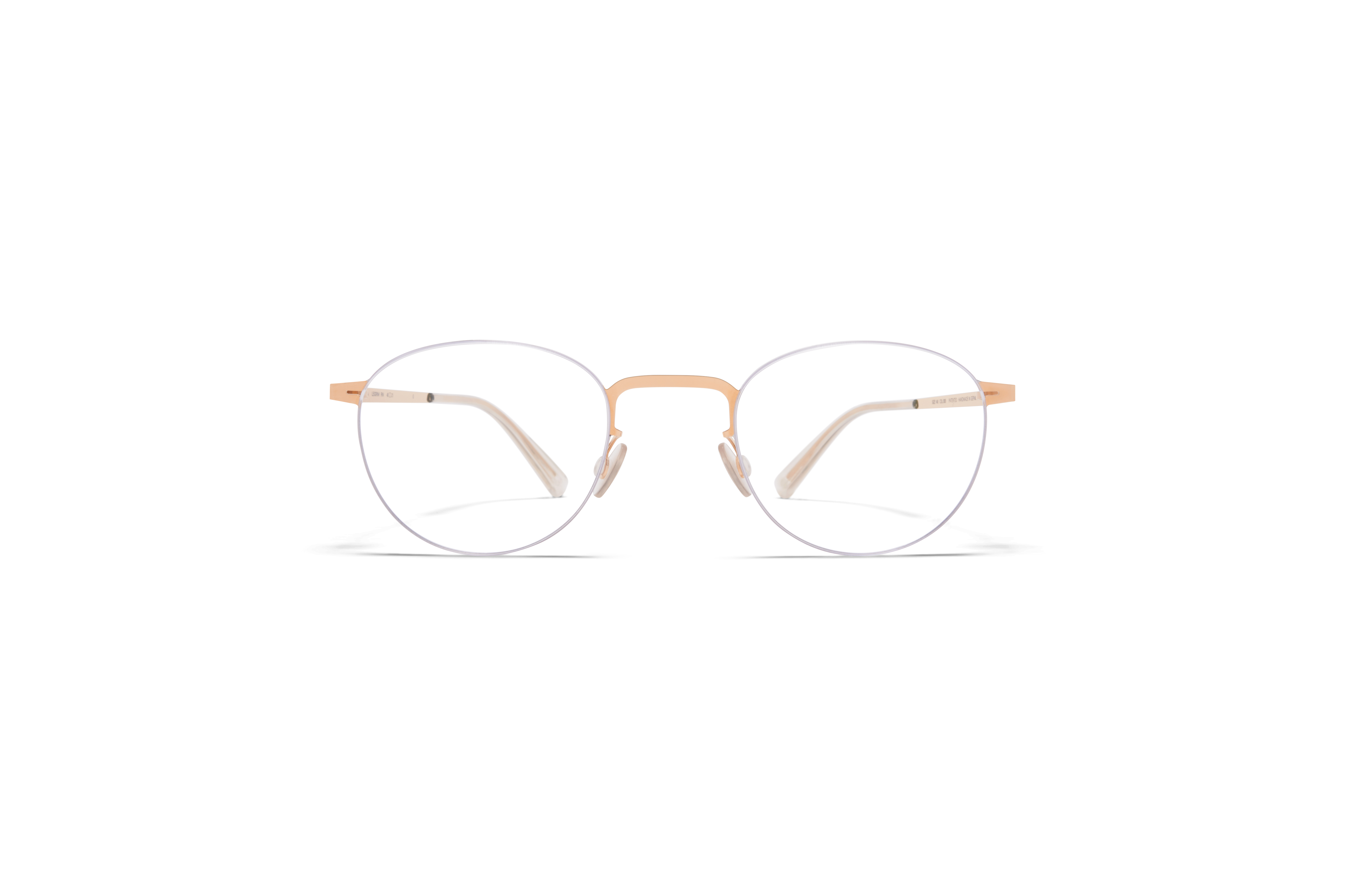 MYKITA Less Rim Rx Rin Silver Champagne Gold Clear