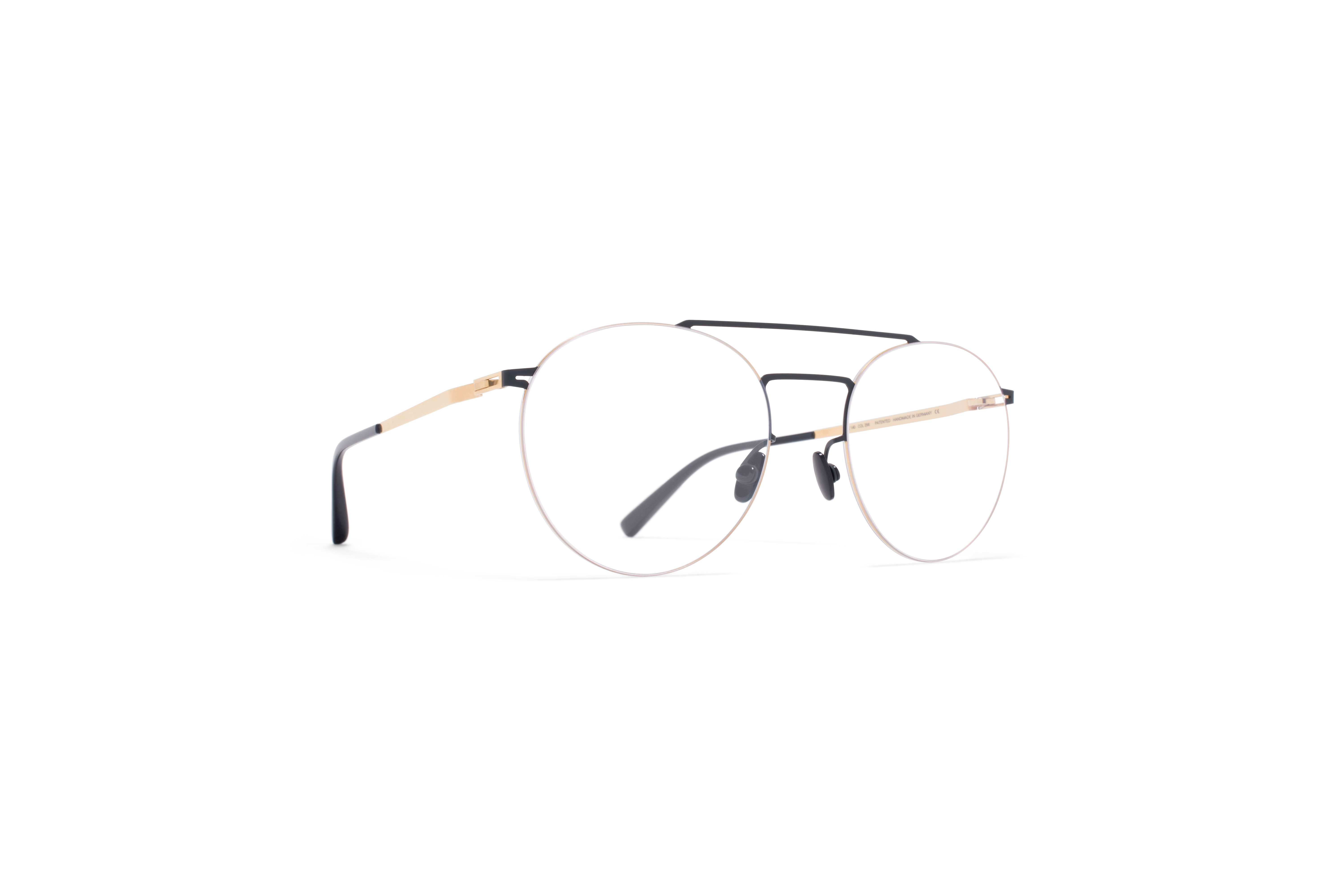 MYKITA Less Rim Rx Ryo Gold Indigo Clear