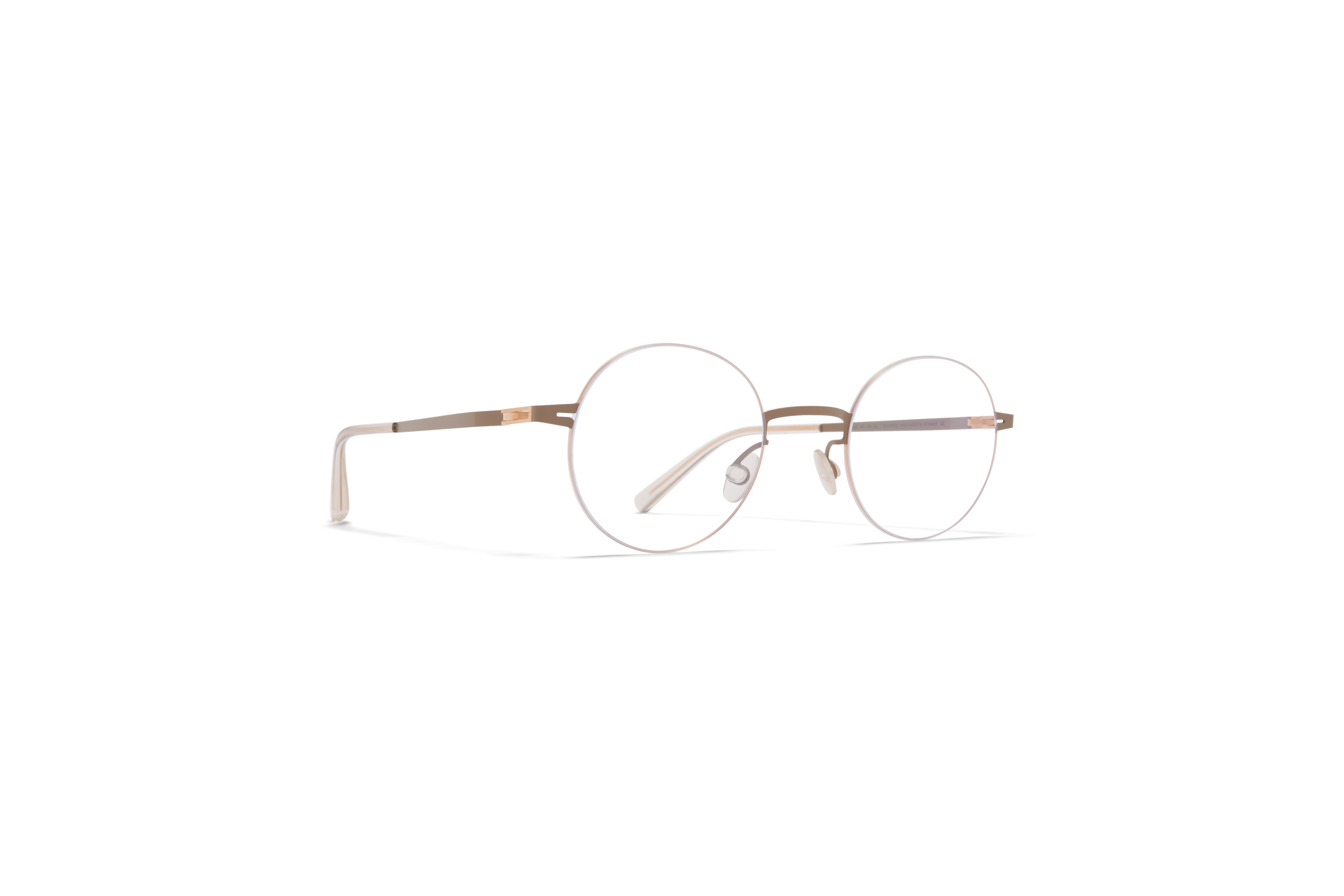 MYKITA Less Rim Rx Sho Champagne Gold Taupe Grey Clear
