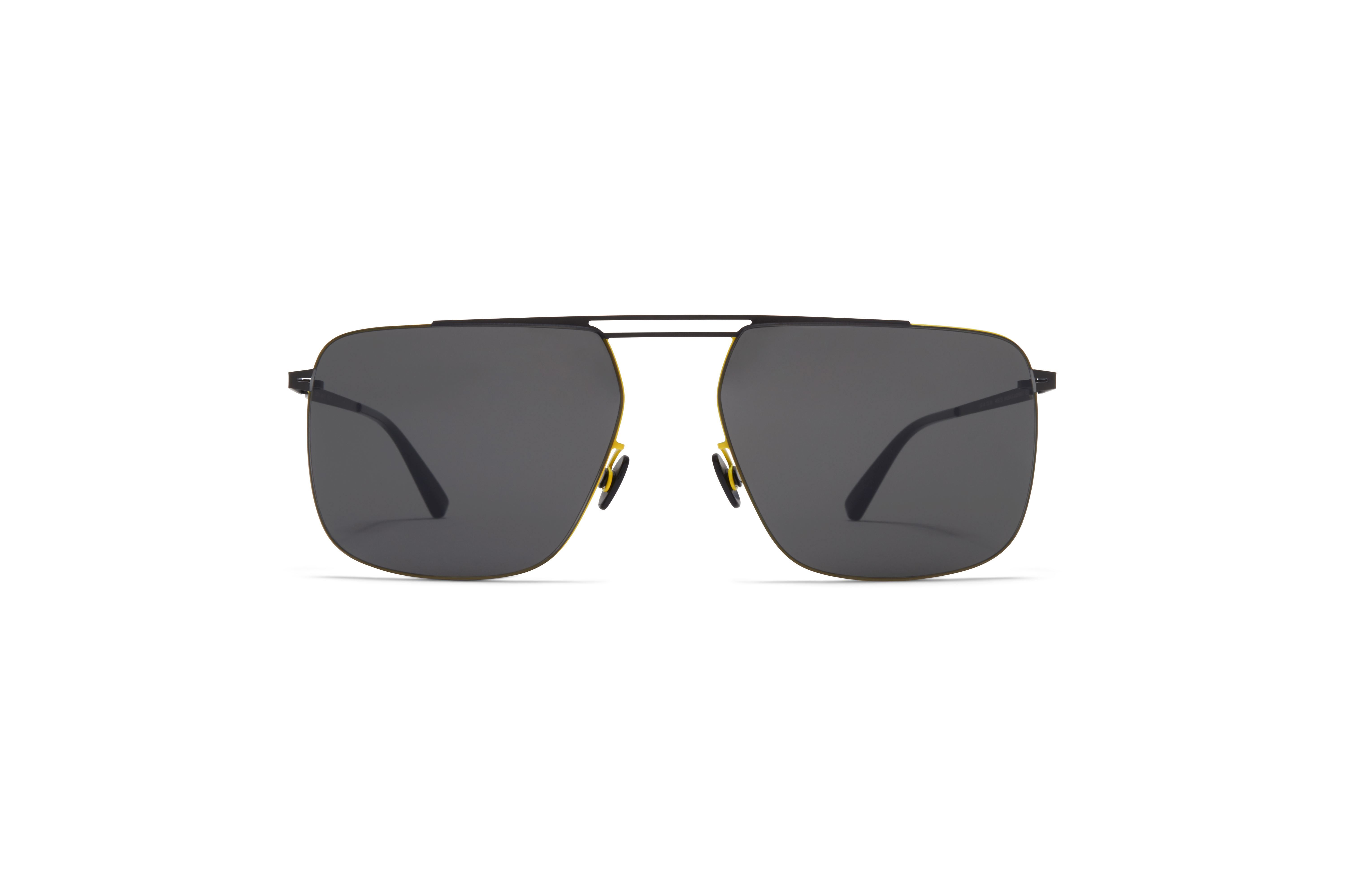 MYKITA Less Rim Sun Raidon Black Neon Yellow Dark Grey Solid