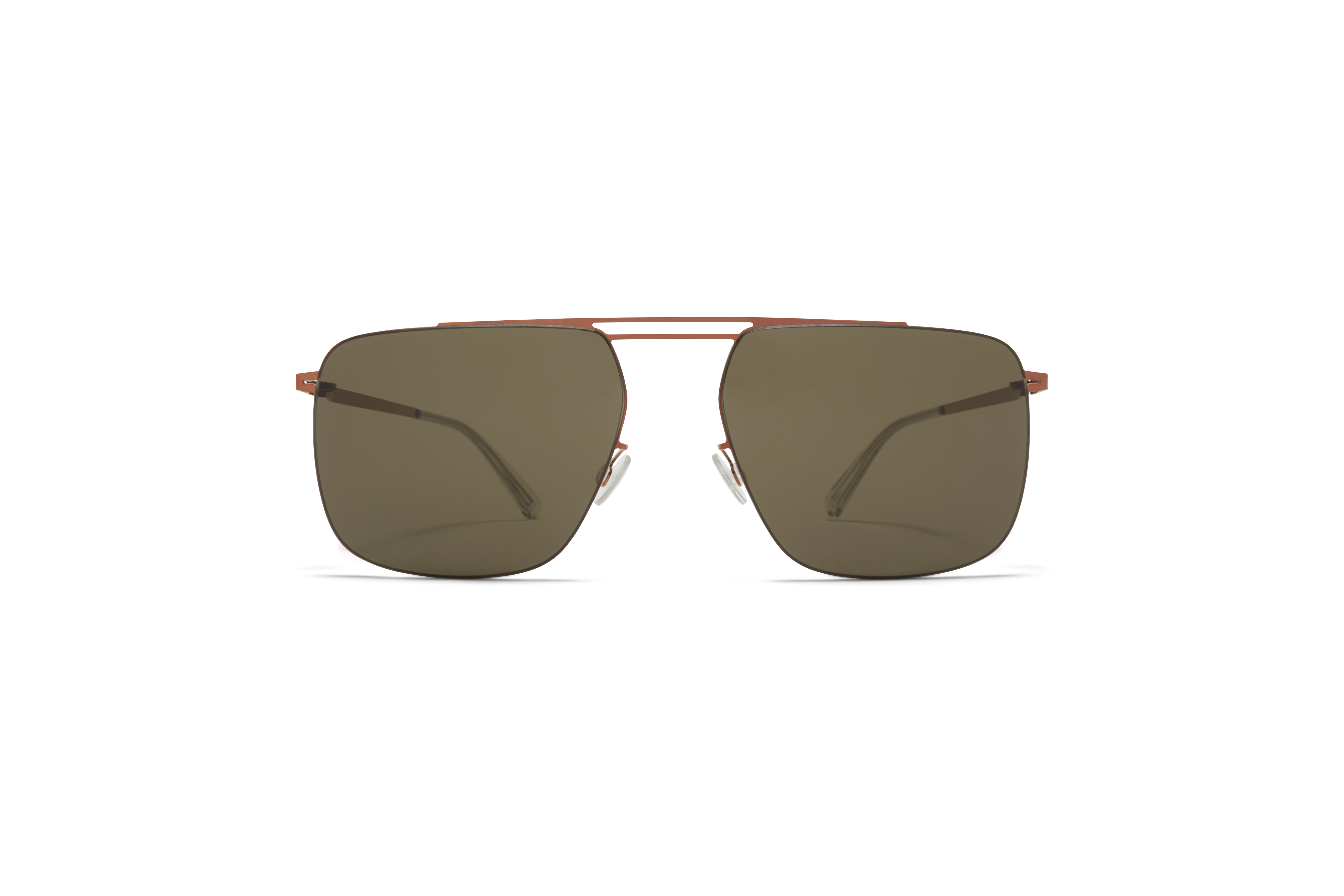 MYKITA Less Rim Sun Raidon Shiny Copper Dark Grey Solid