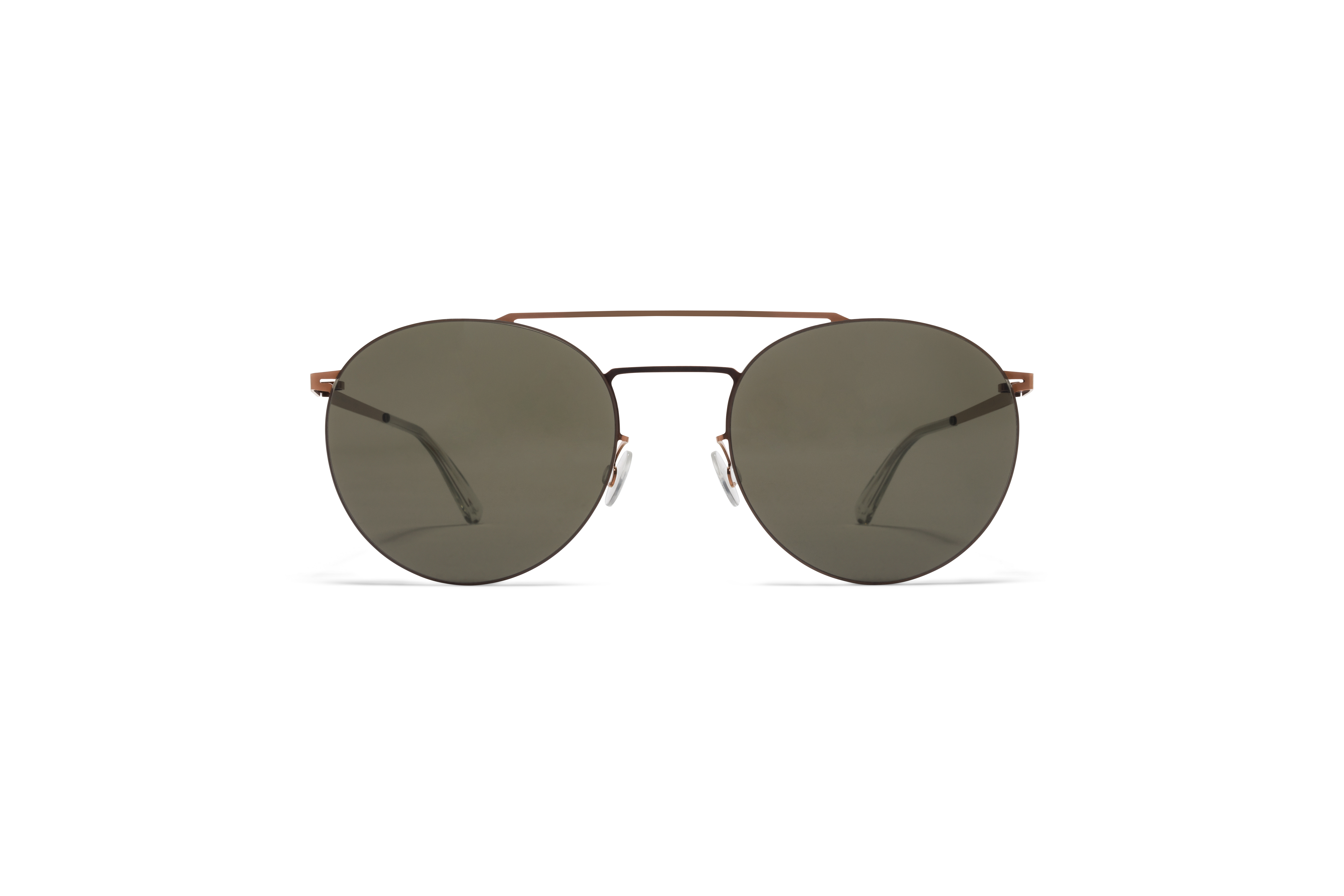 MYKITA Less Rim Sun Ryo Shiny Copper Raw Green Solid