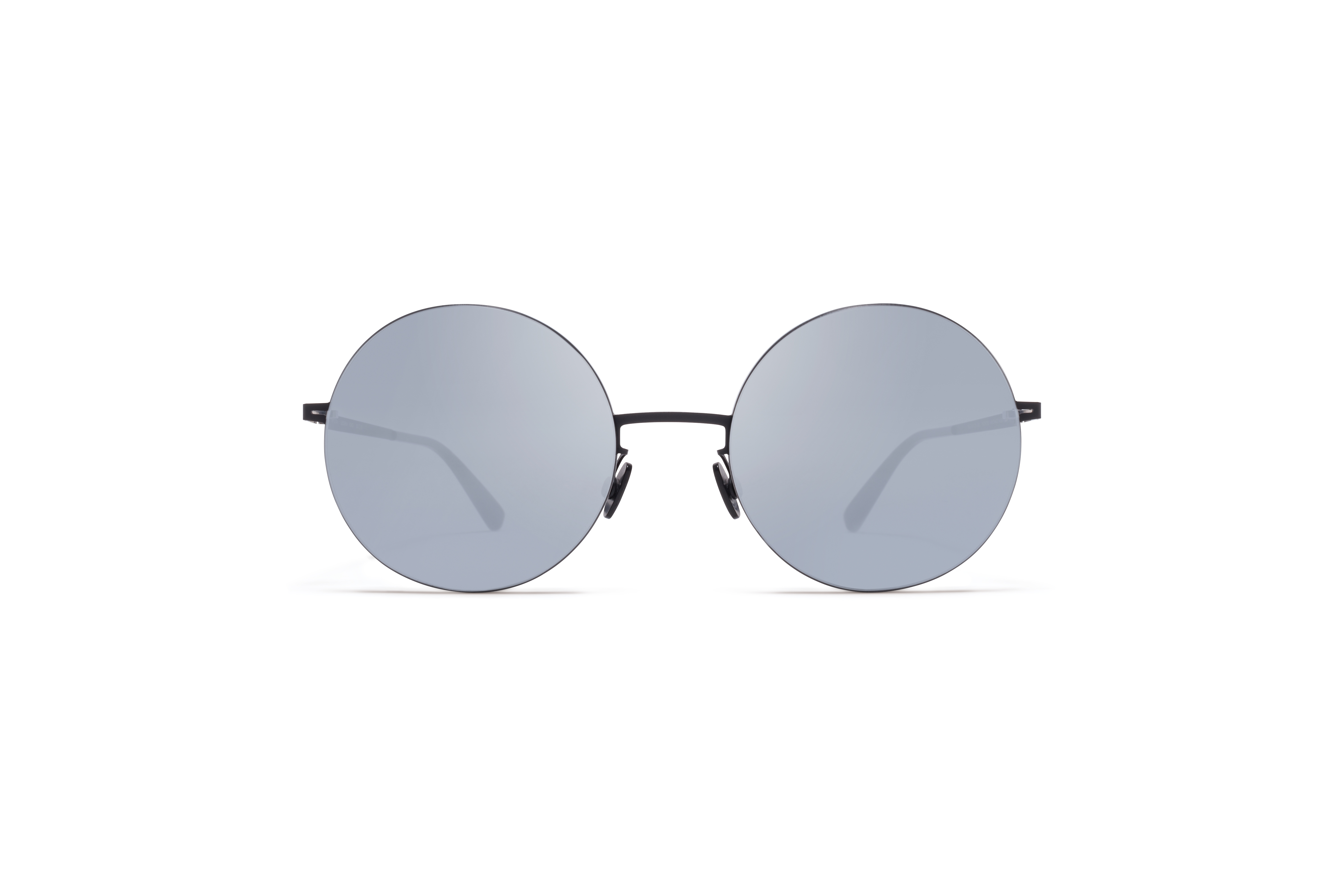 MYKITA Less Rim Sun Yoko Silver Black Silver Flash