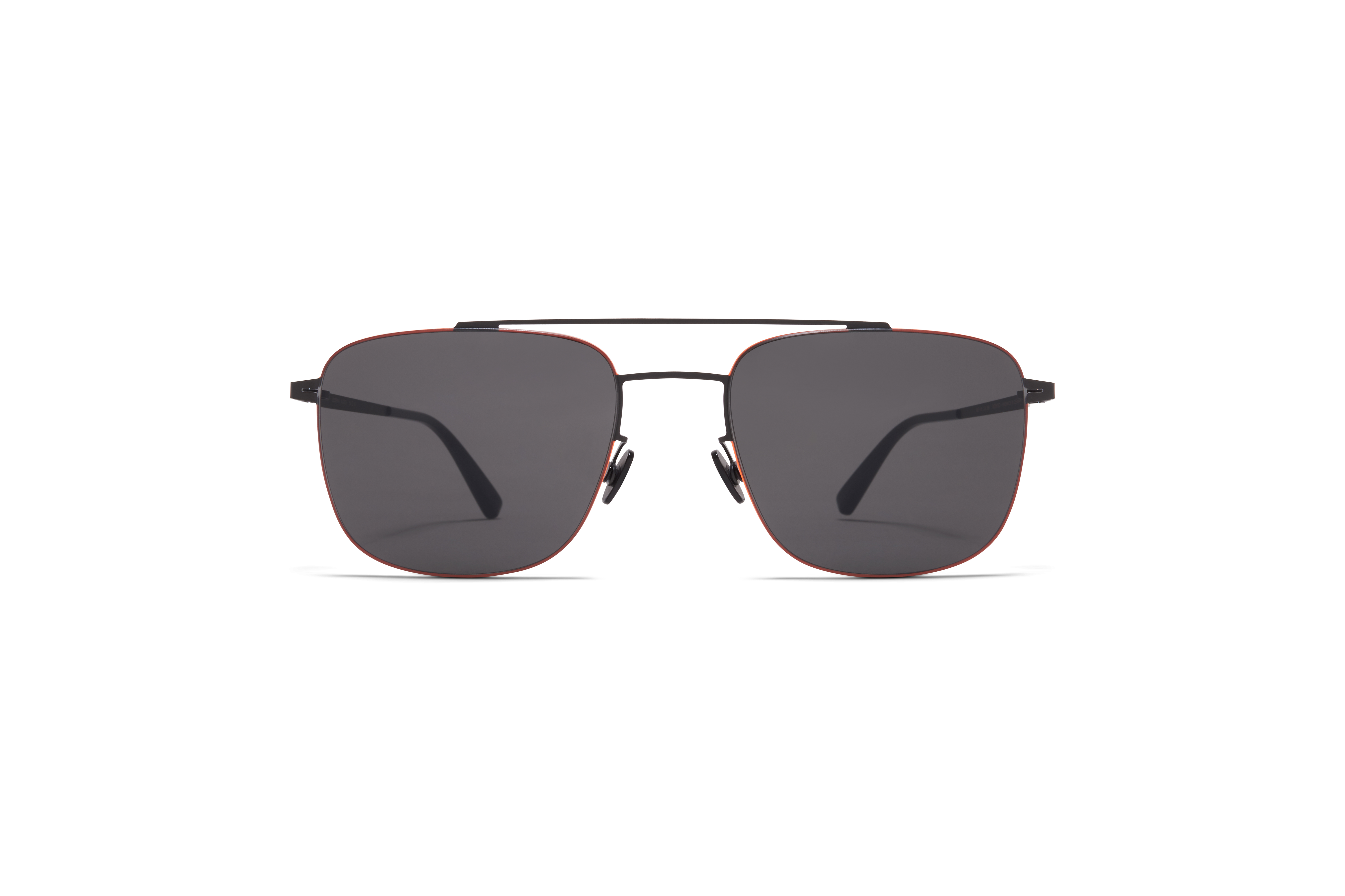 MYKITA Less Rim Sun Yuuto Black Neon Orange Dark Grey Solid