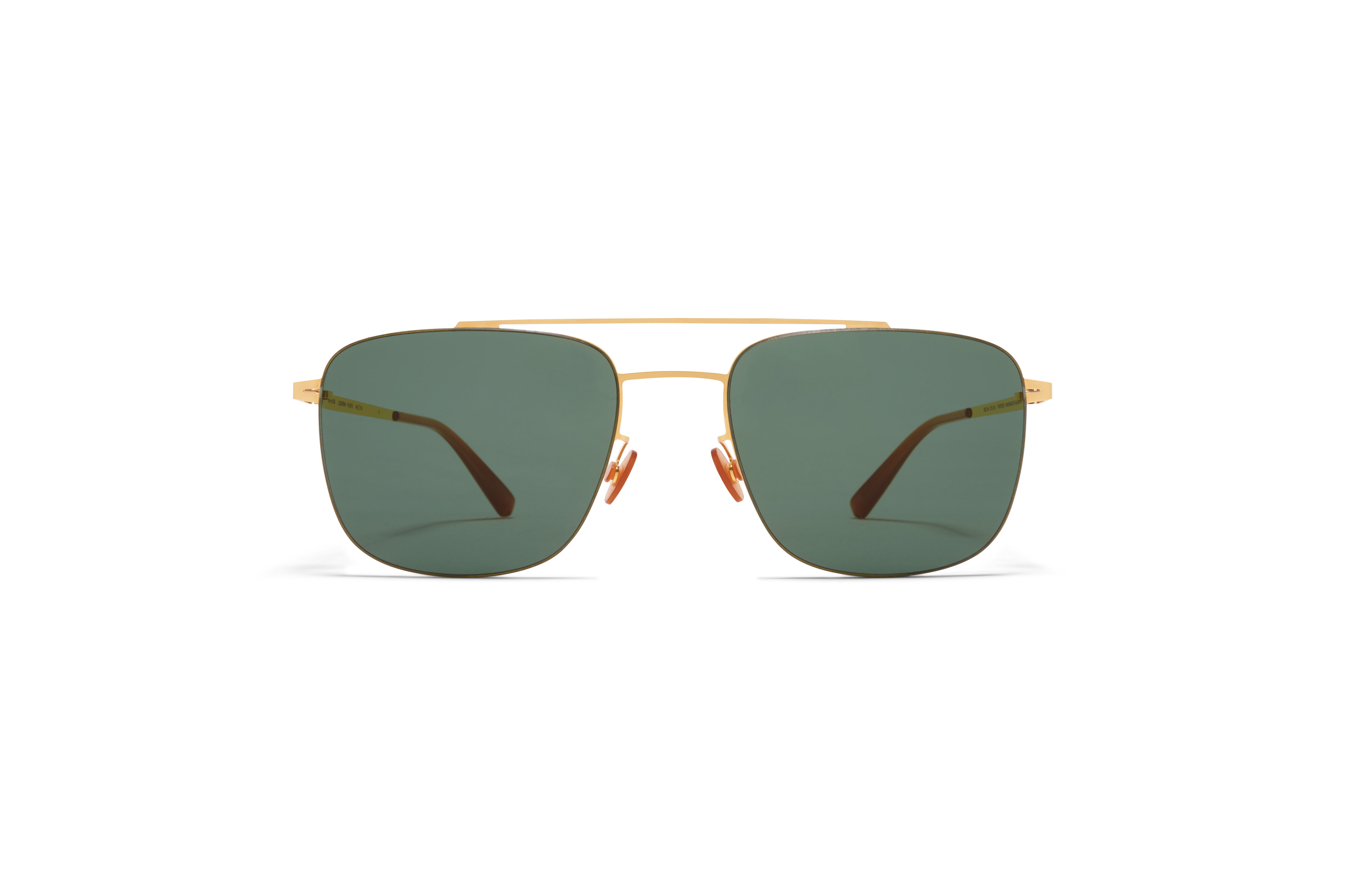 MYKITA Less Rim Sun Yuuto Glossy Gold Dark Green Solid