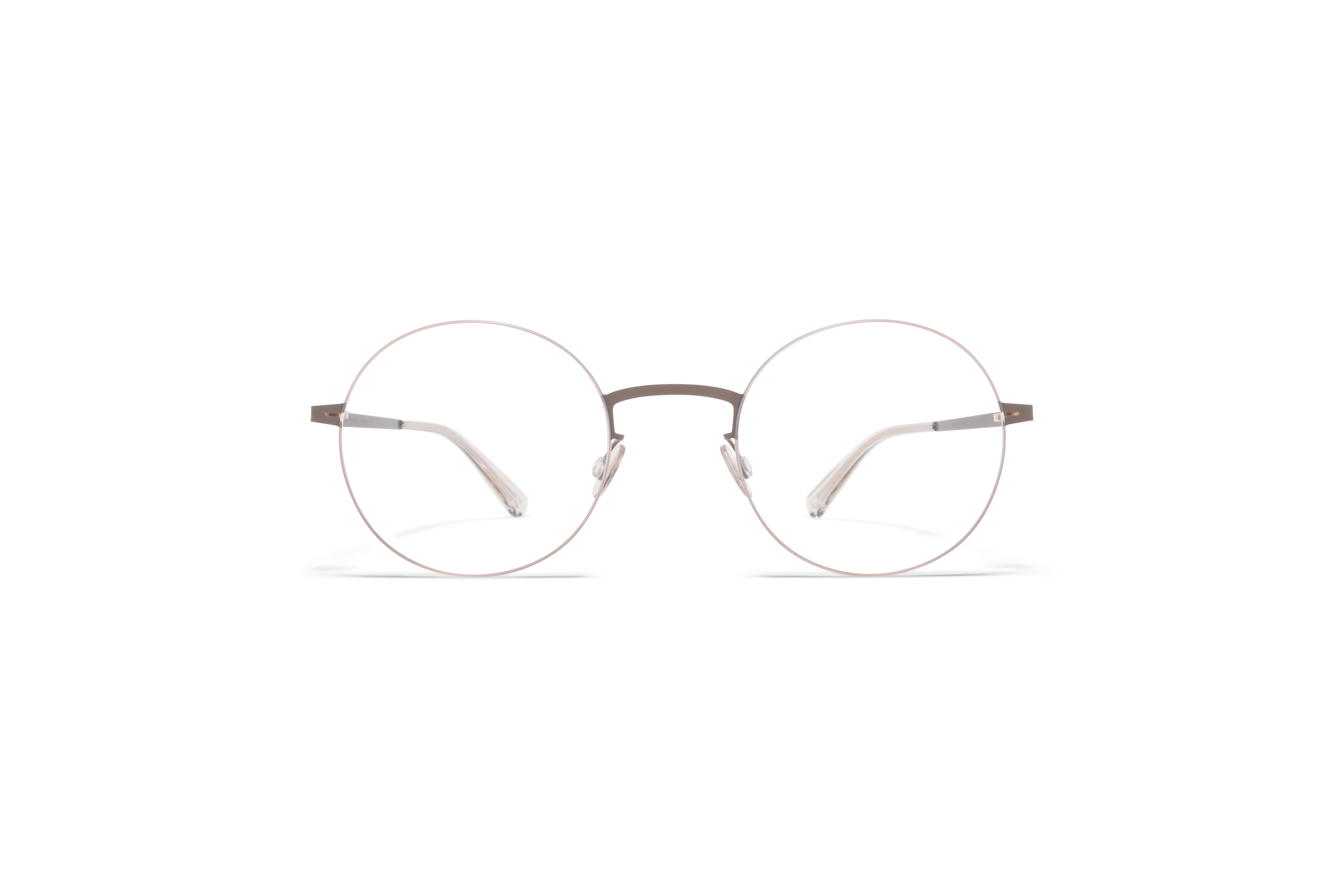MYKITA Lessrim Rx Kayo Champagne Gold Taupe Grey Clear