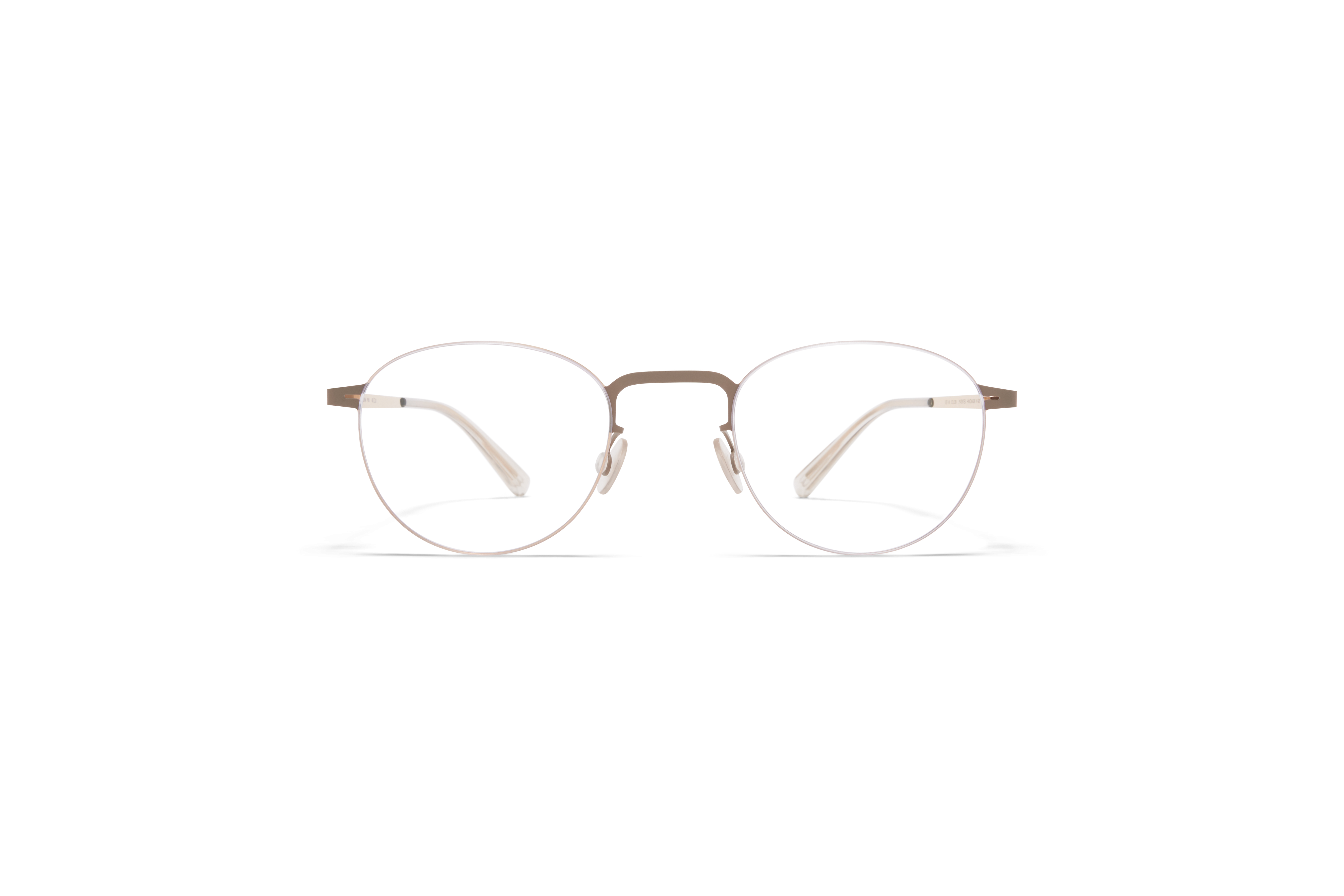 MYKITA Lessrim Rx Rin Champagne Gold Taupe Grey Clear