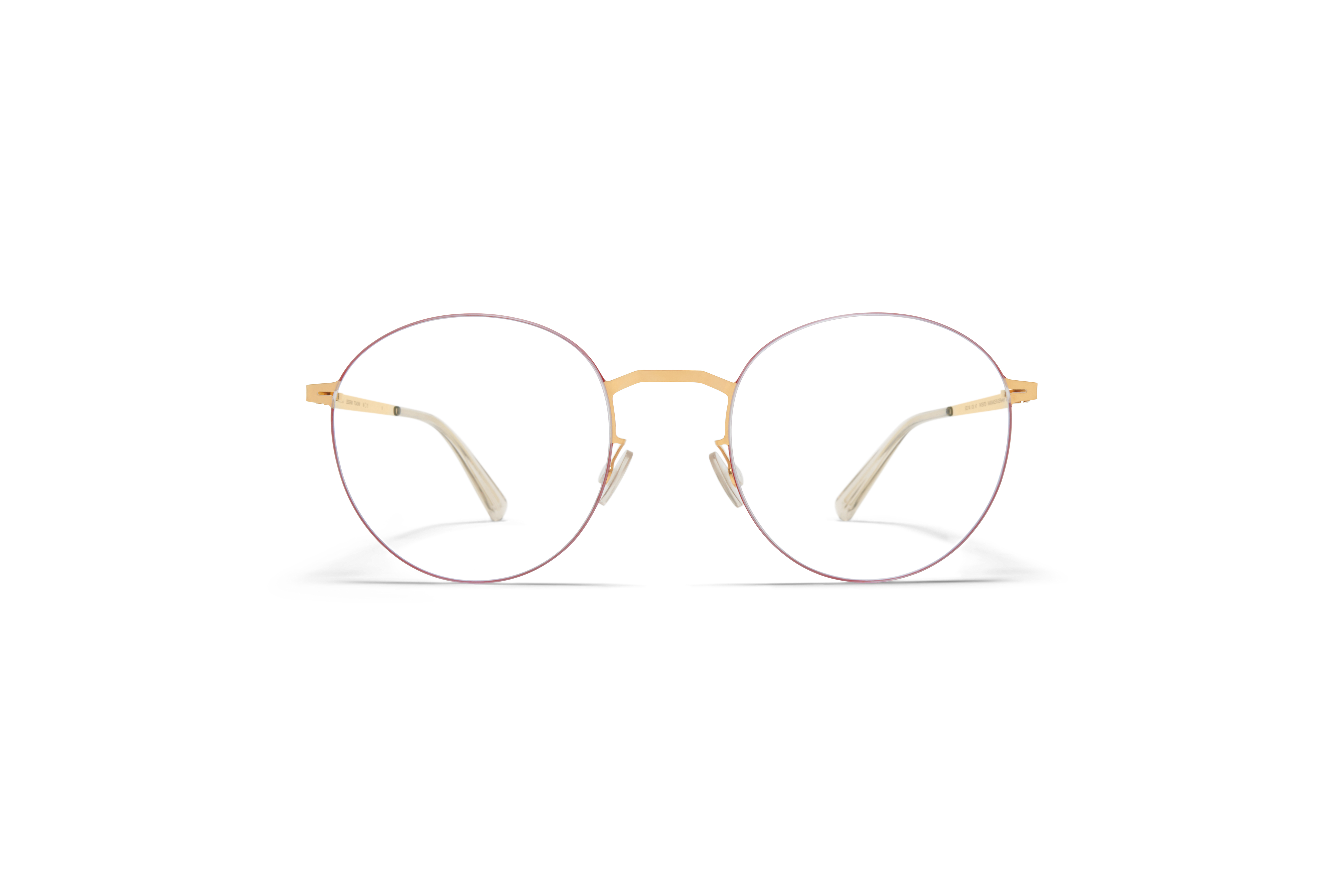 MYKITA Lessrim Rx Tomomi Gold Coral Red Clear