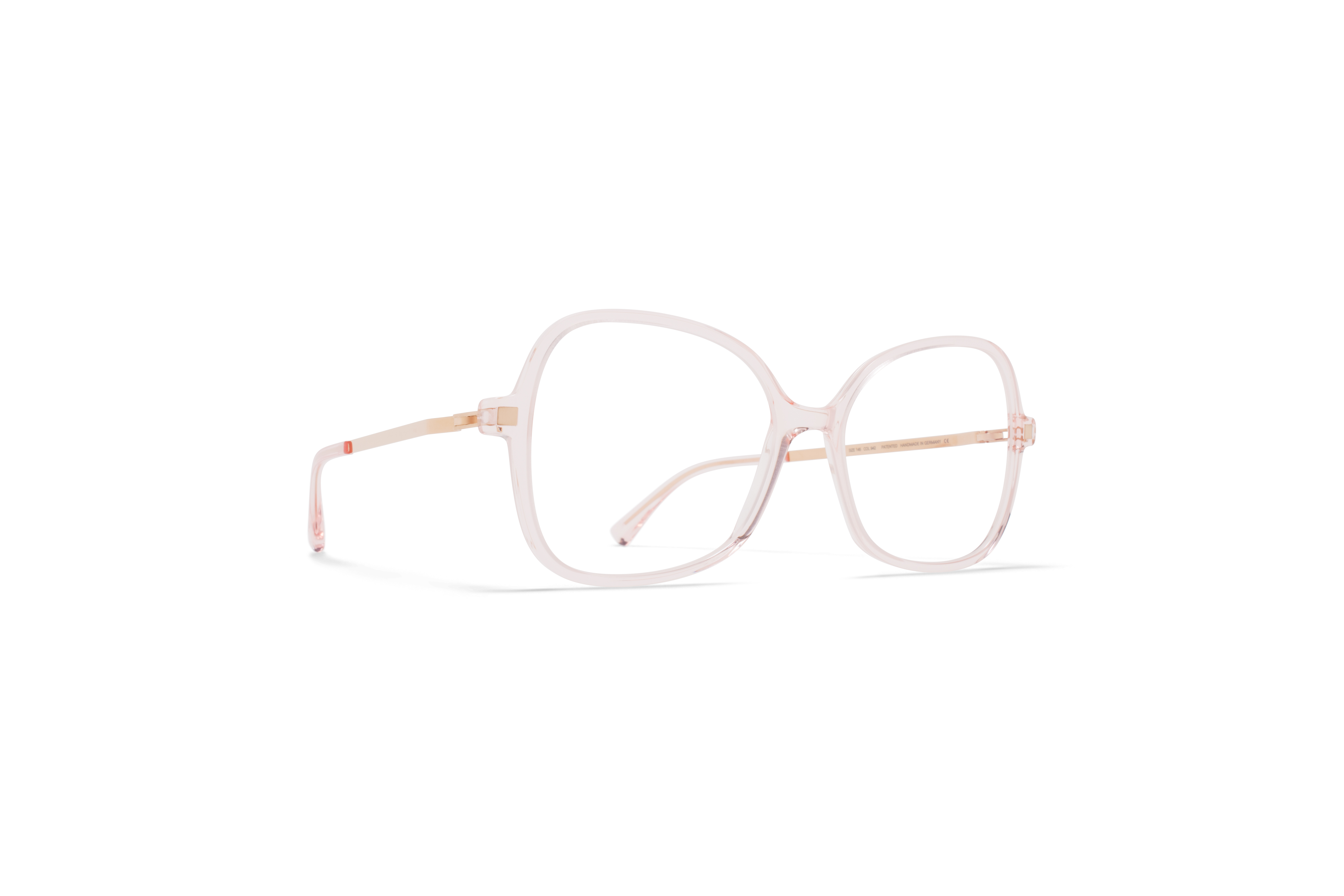 MYKITA Lite Acetate Rx Alasie C20 Rose Water Champagne Gold Clear