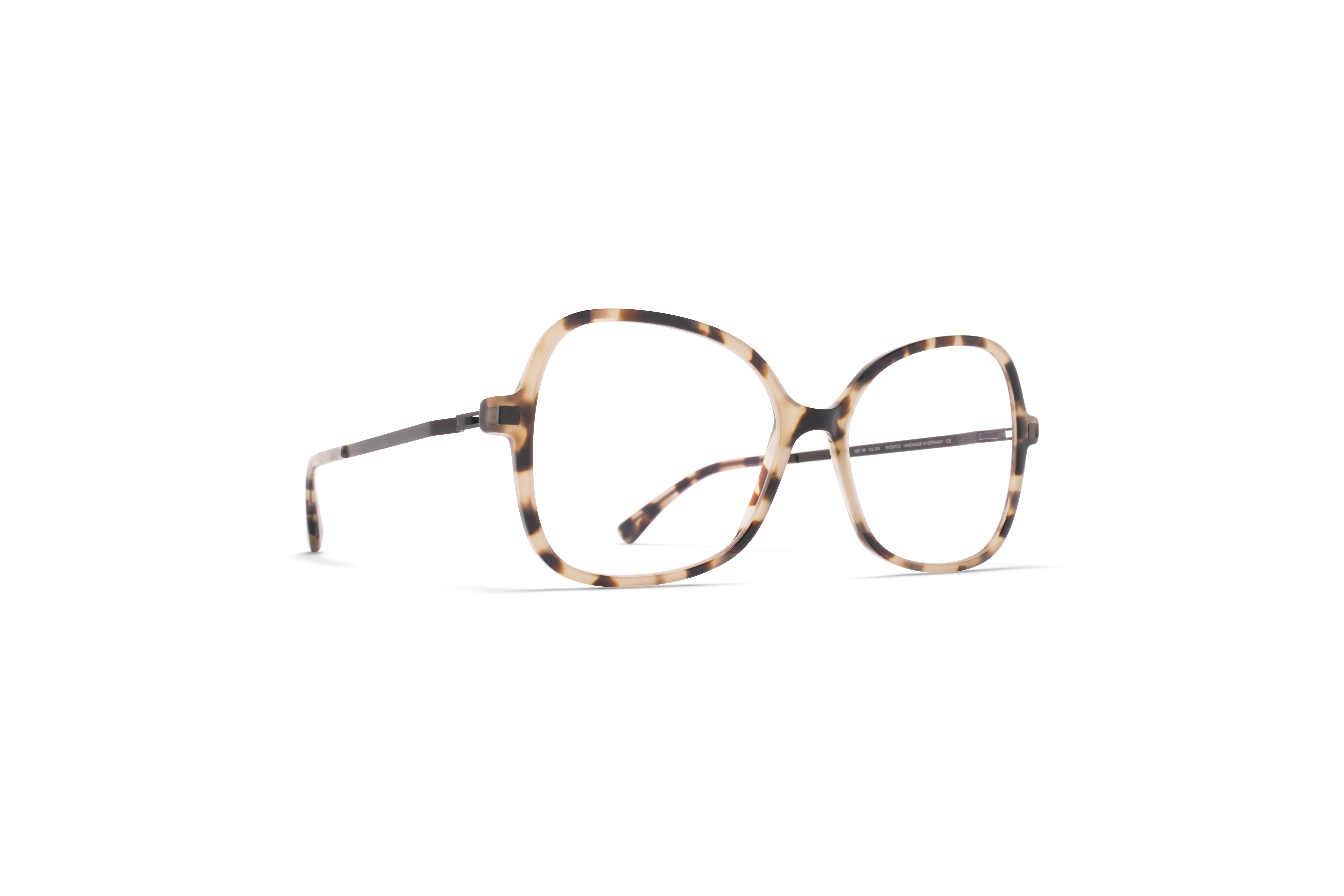 MYKITA Lite Acetate Rx Alasie C36 Chocolate Chips Black Clear
