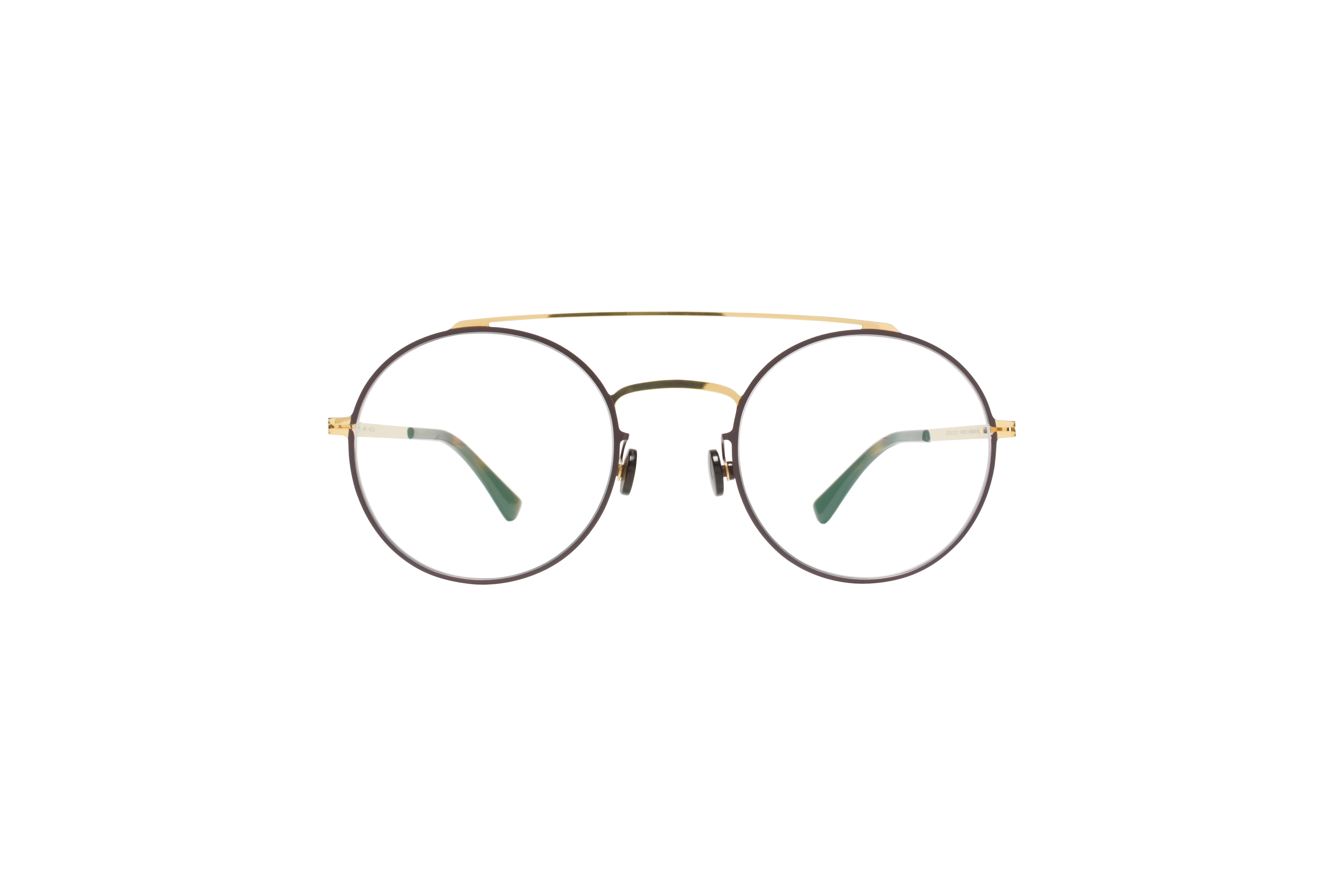 MYKITA Lite Acetate Rx Anyu Gold Darkbrown Clear