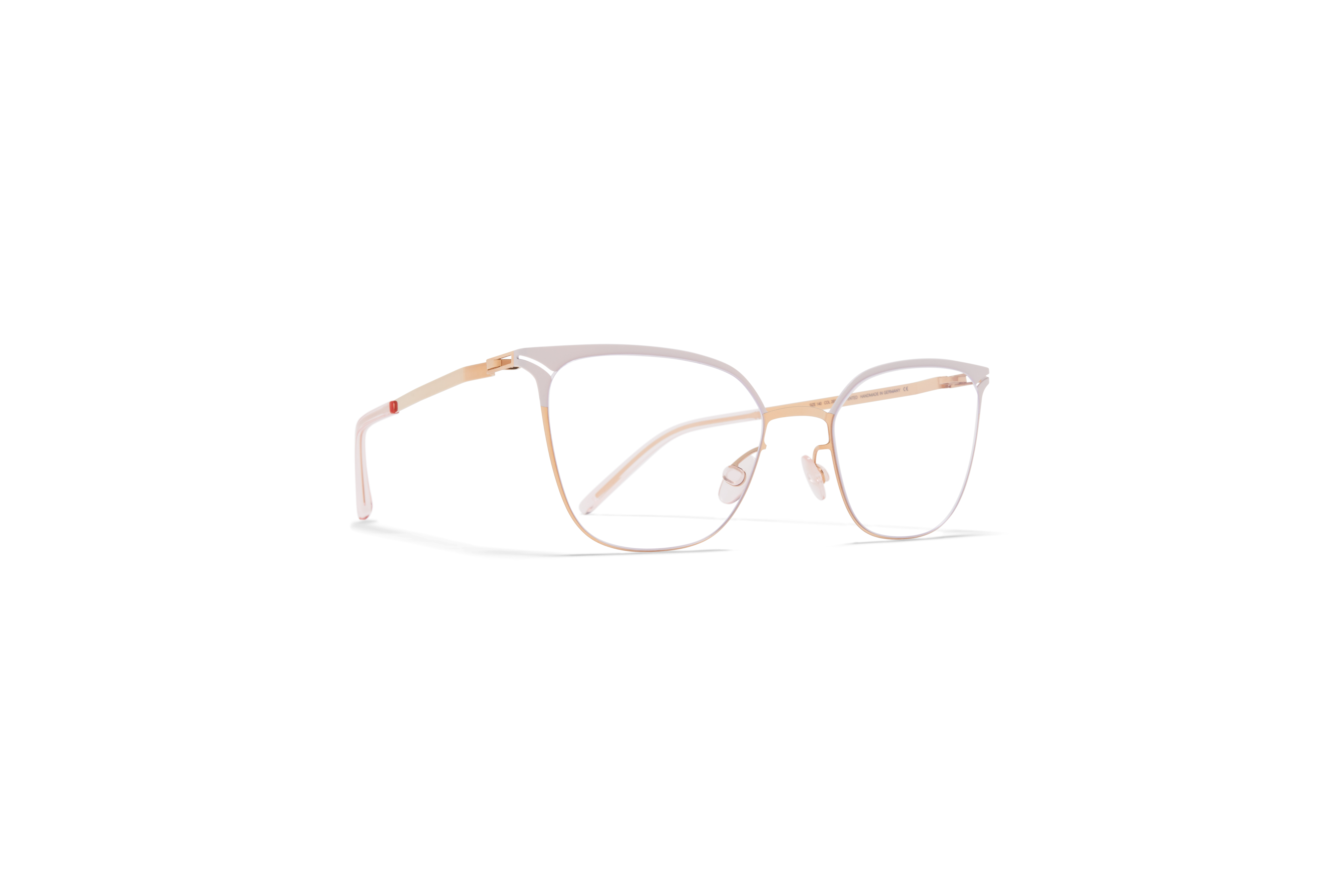 MYKITA Lite Acetate Rx Arielle Champagne Gold Aurore Clear