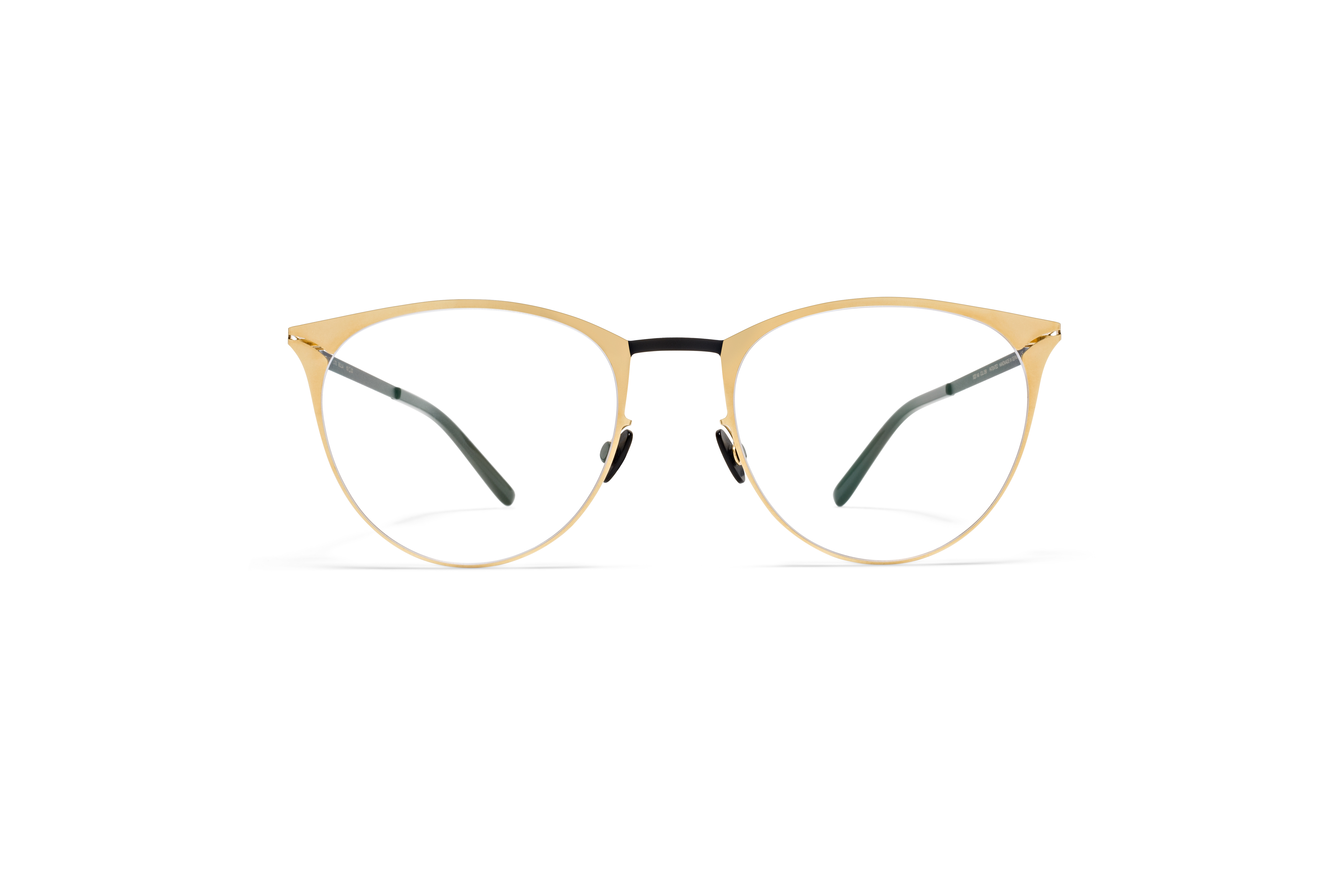MYKITA Lite Acetate Rx Bella Gold Black Clear