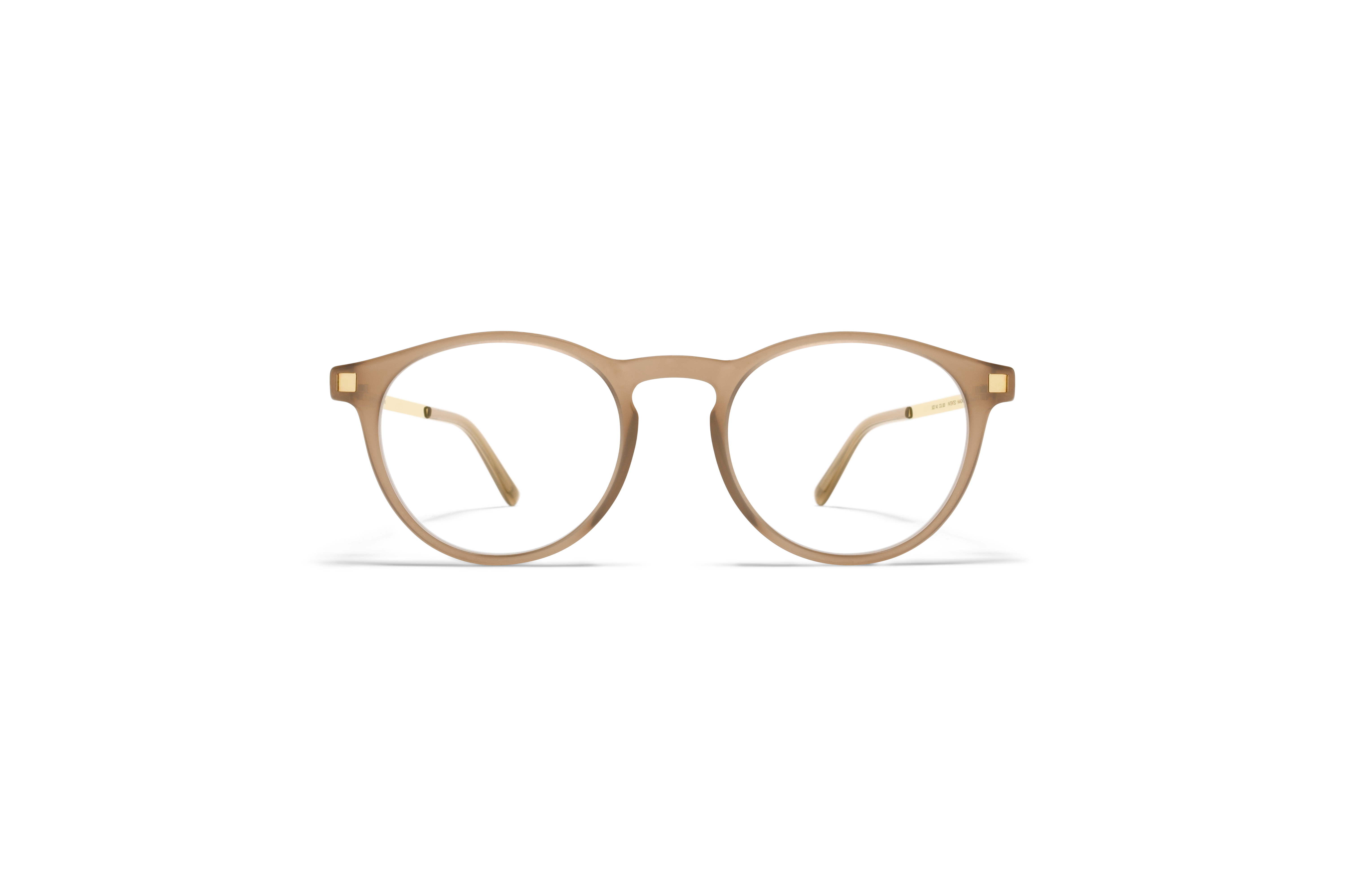 MYKITA Lite Acetate Rx Erva C7 Taupe Glossy Gold Clear