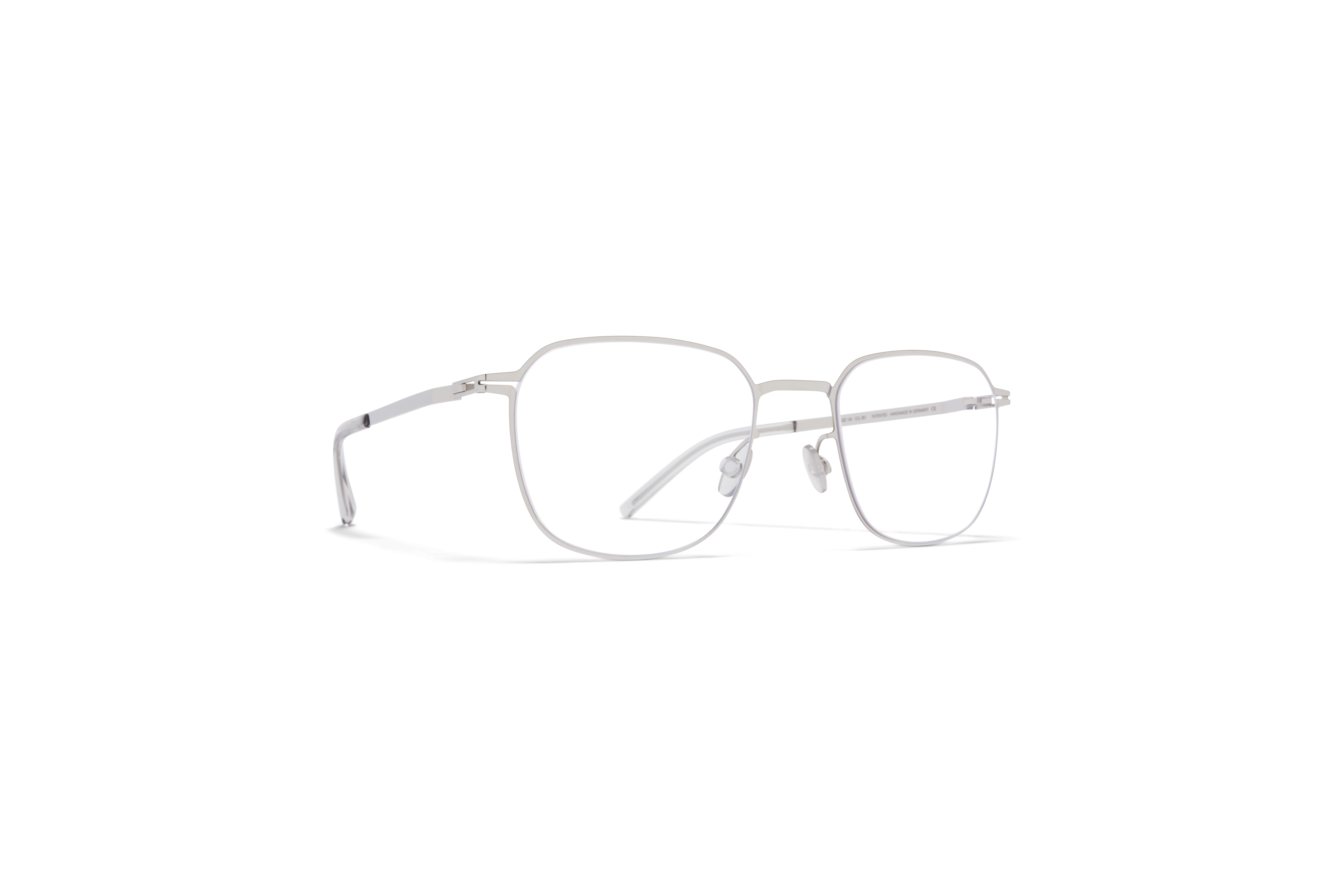 MYKITA Lite Acetate Rx Herko Shiny Silver Clear