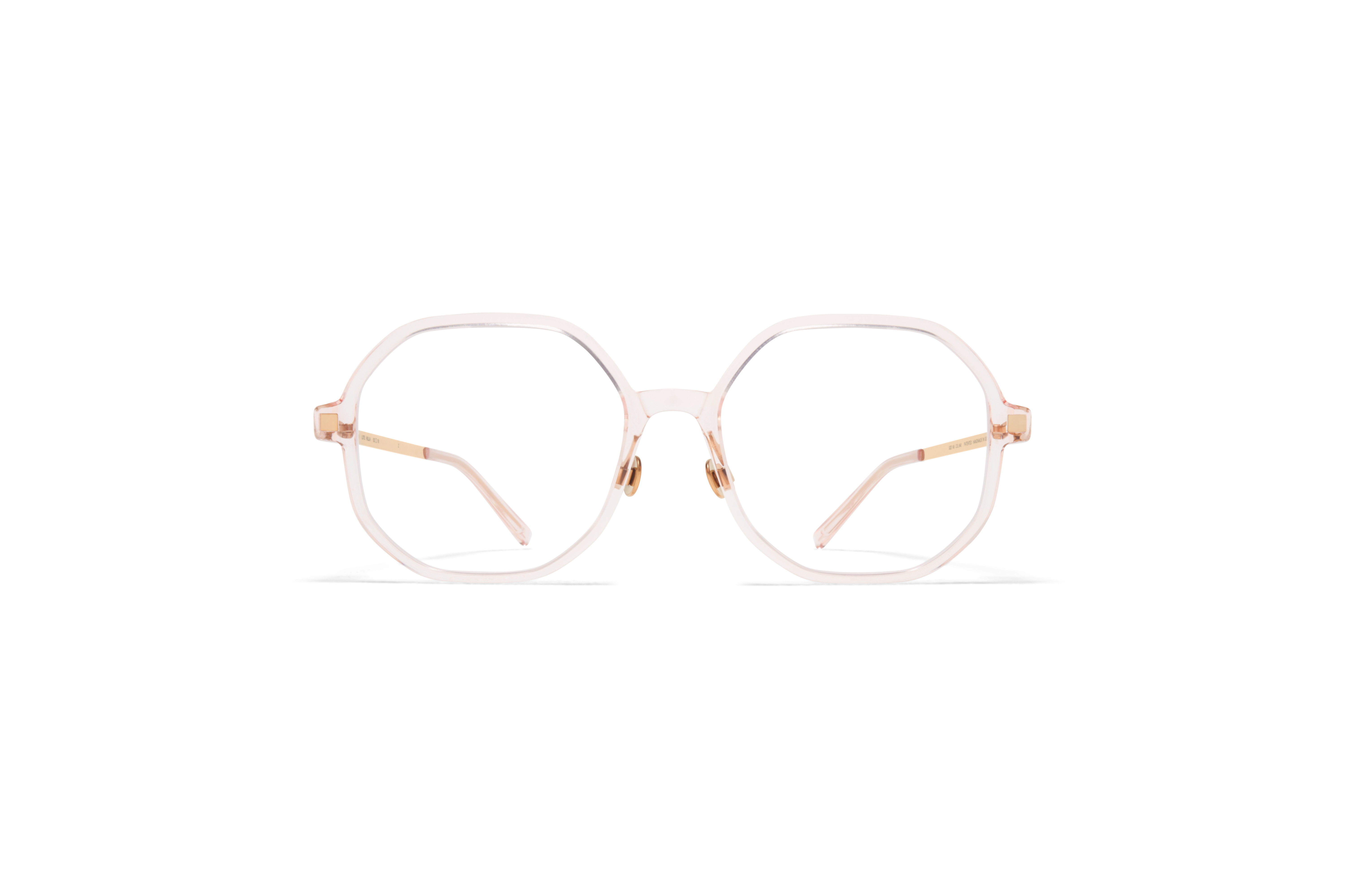 MYKITA Lite Acetate Rx Hilla C20 Rose Water Champagne Gold Clear